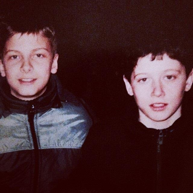 As a boy, Robert Lewandowski, right, was a gifted footballer