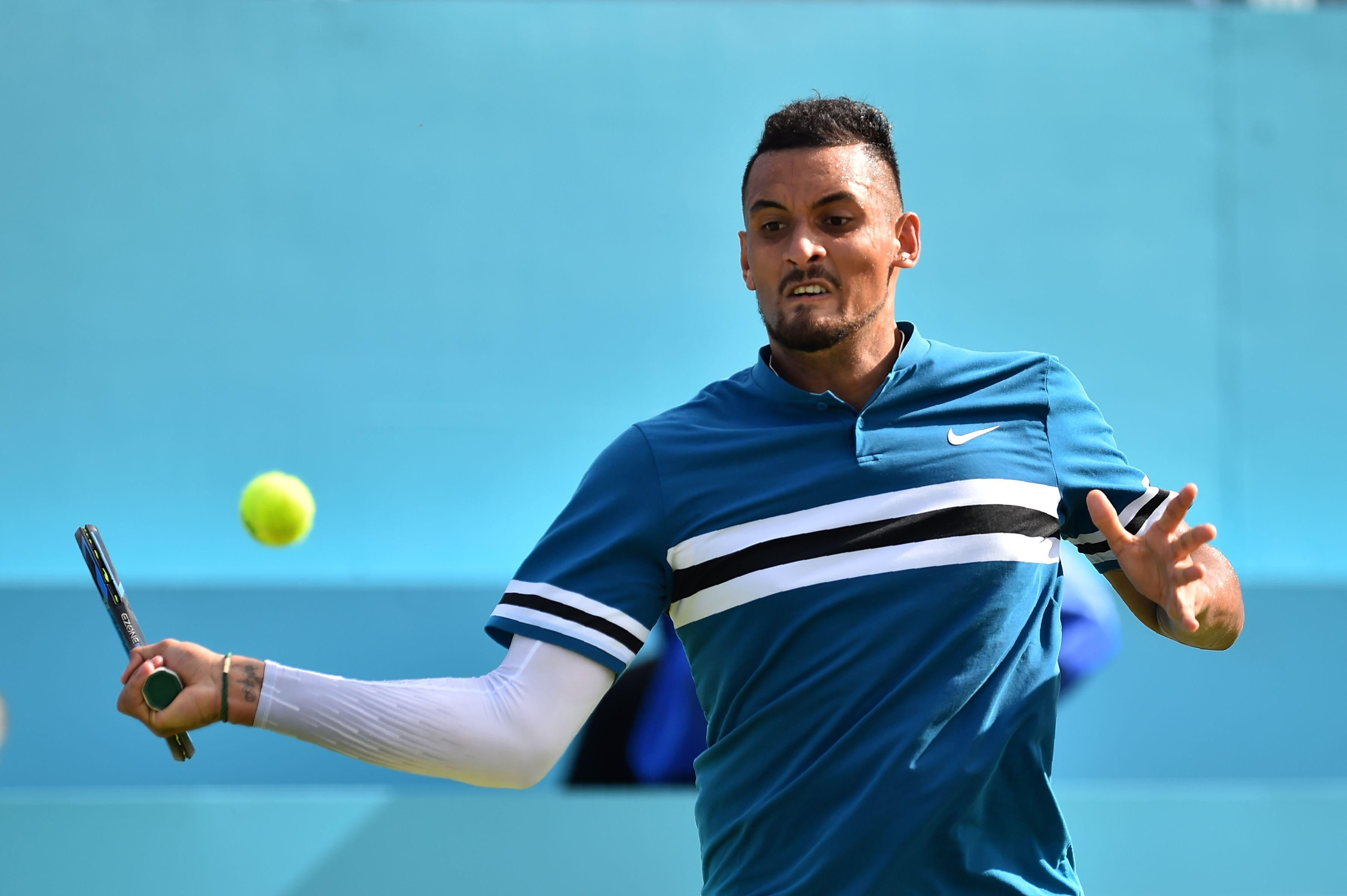 Nick Kyrgios came through in three sets at Queen's