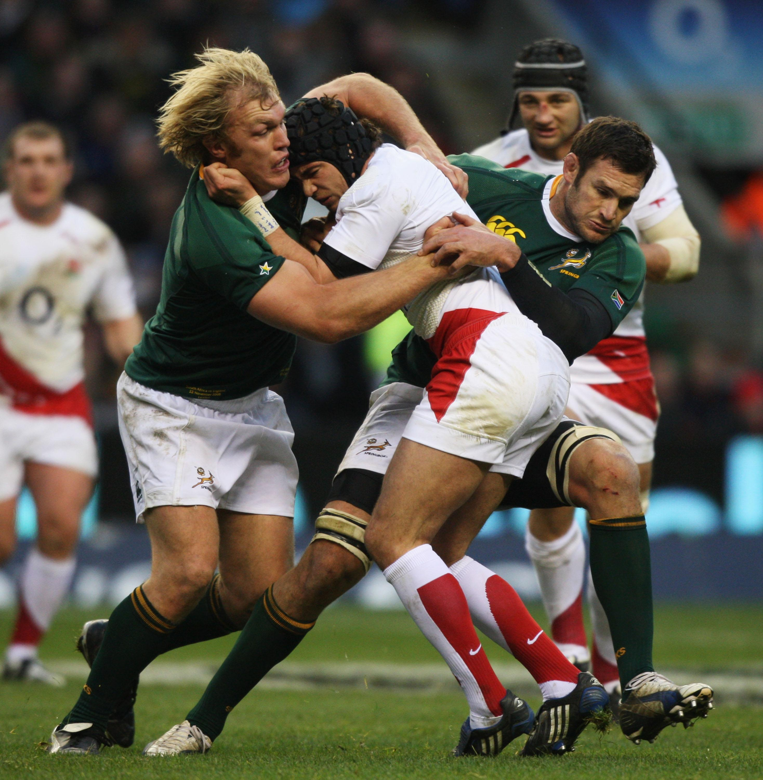 Cipriani in action in 2008 against South Africa - the last time he started for England