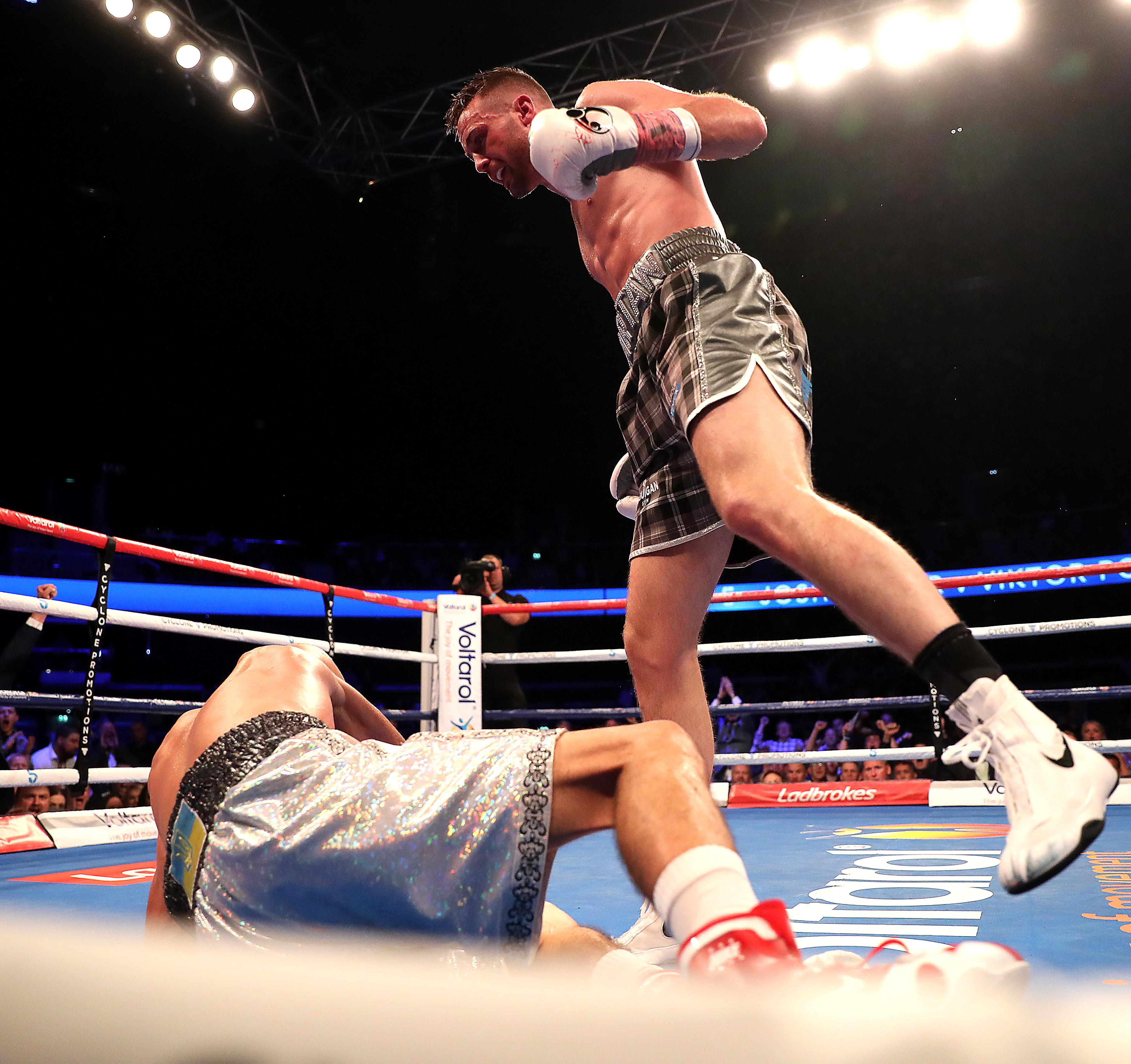 Viktor Postol was floored in the 10th round