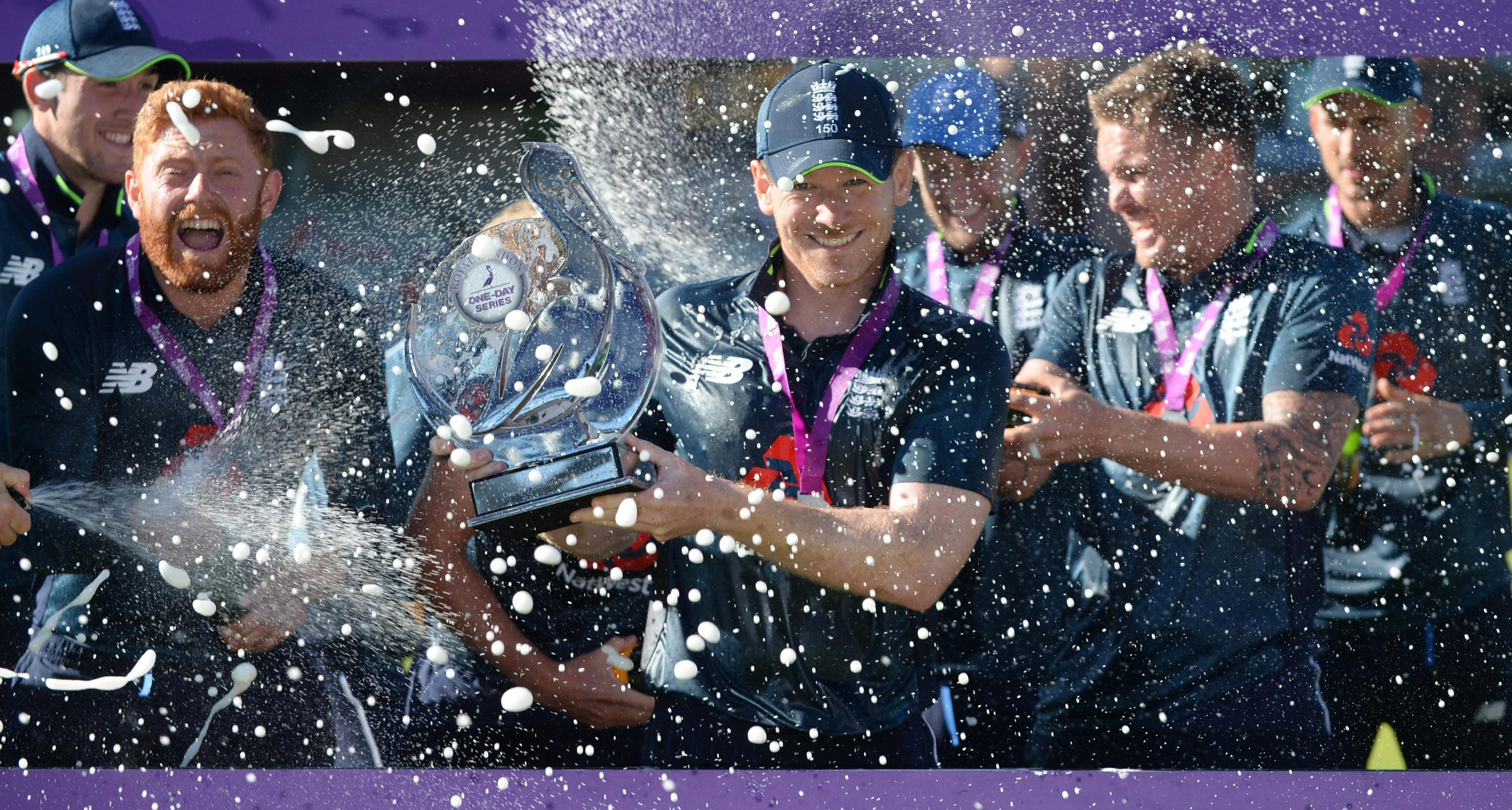 England celebrate a magnificent 5-0 series triumph over Australia