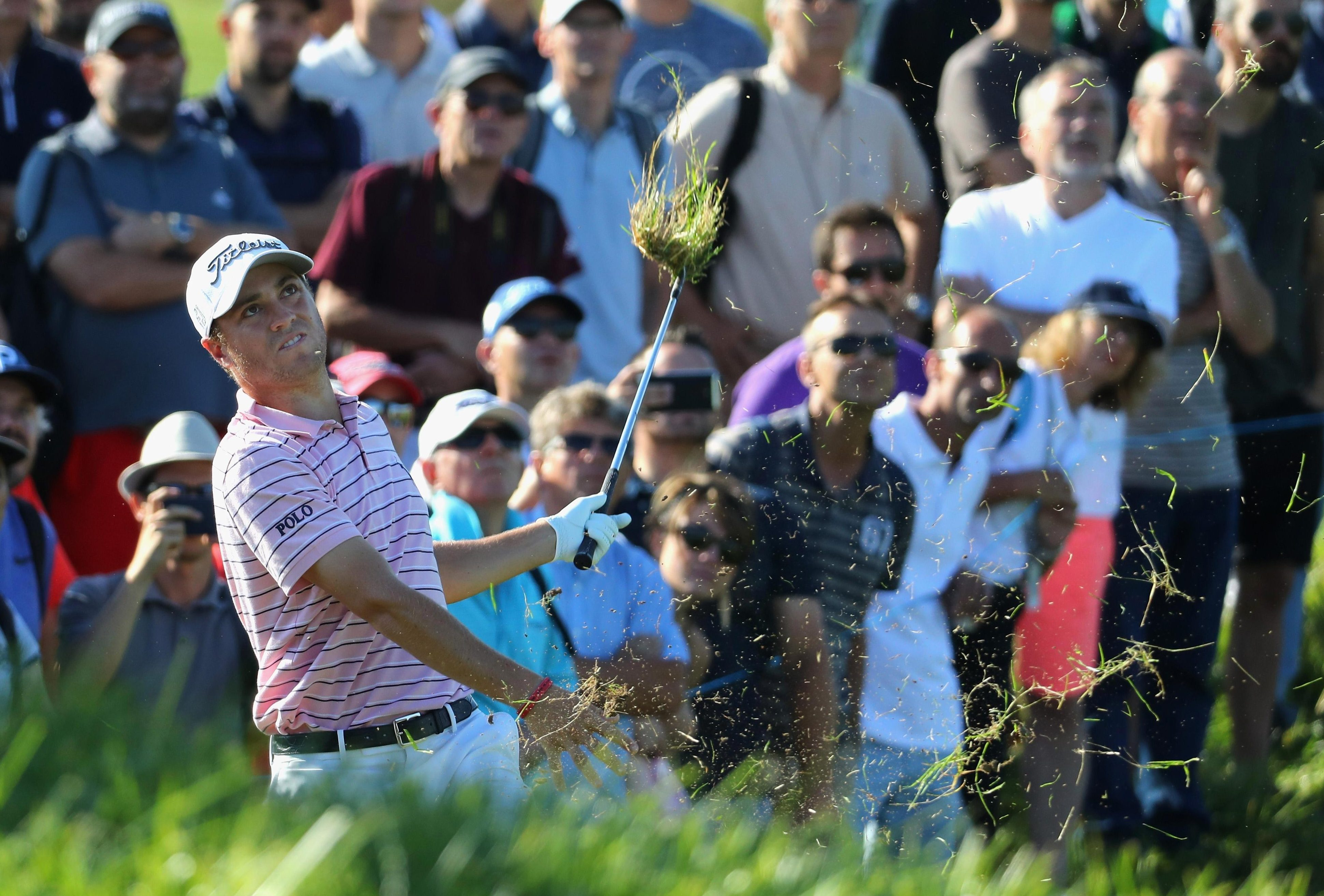 Justin Thomas is getting an early look at Le Golf National and the European fans in France