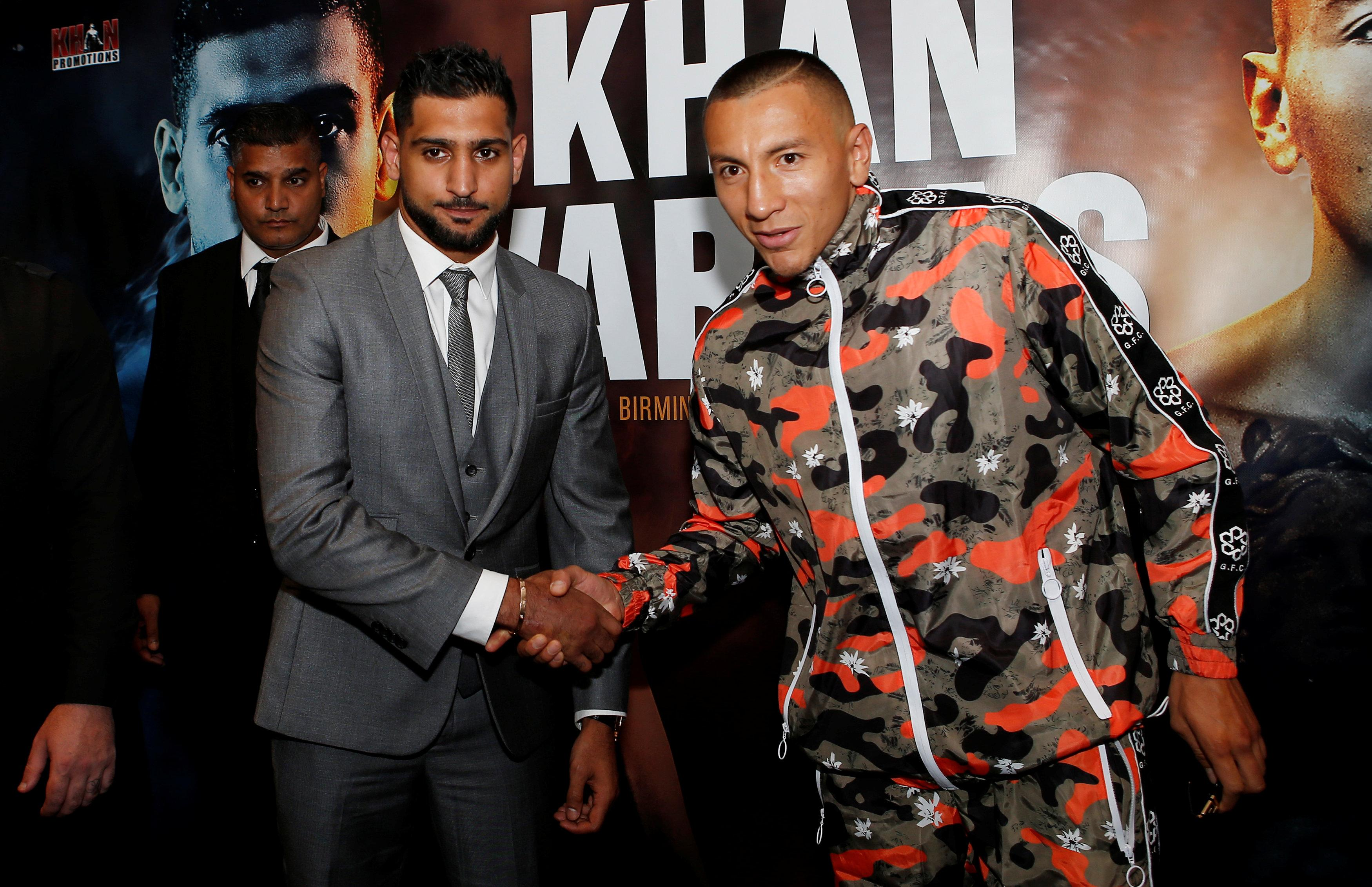 Amir Khan will face Colombian Samuel Vargas on September 8