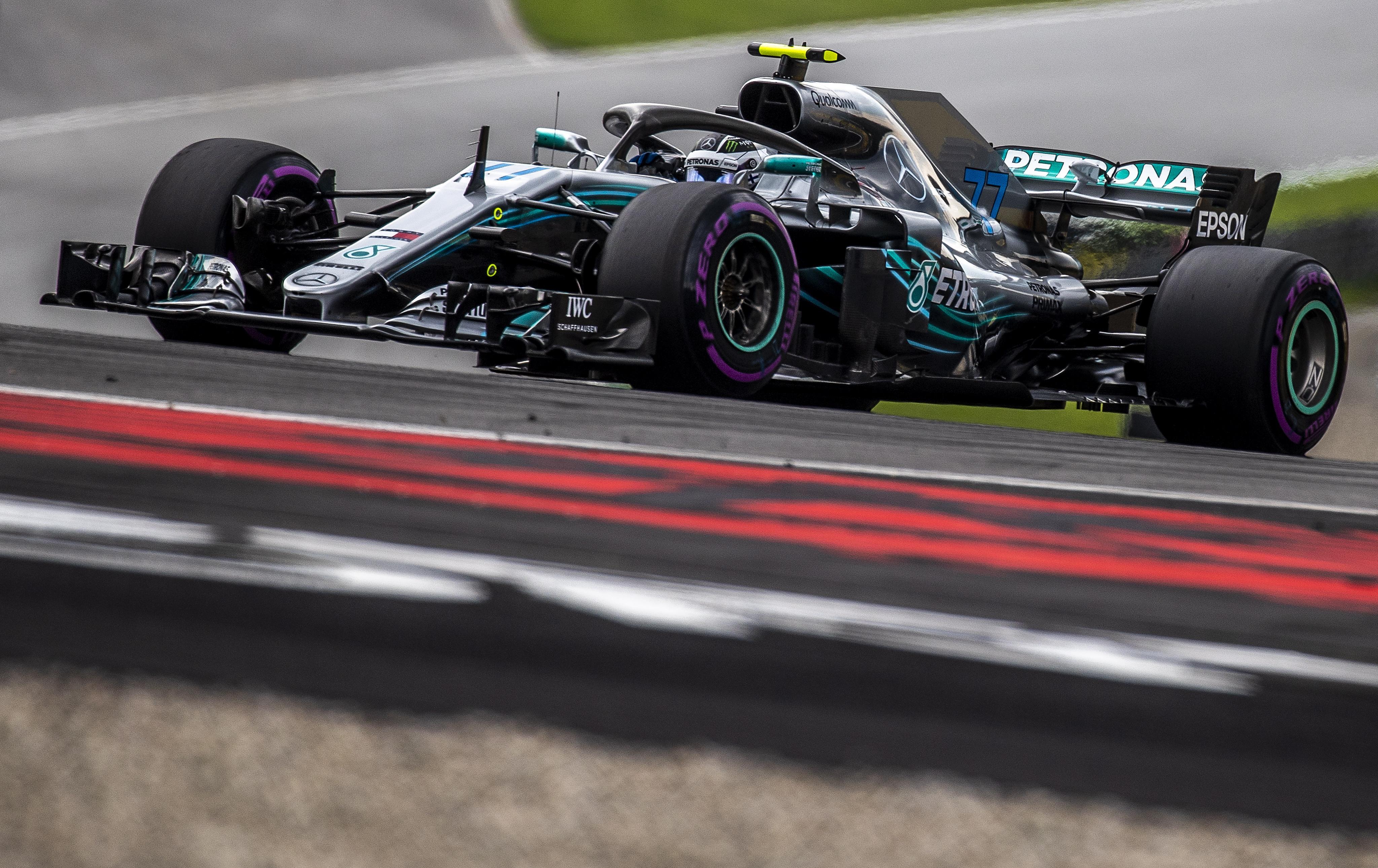 Valtteri Bottas took advantage of Lewis Hamilton's mistake to take top spot