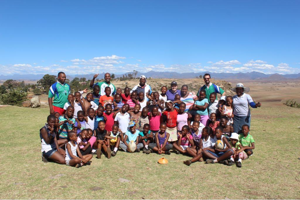A rugby session held at a school in 2016 by the Lesotho Rugby Academy