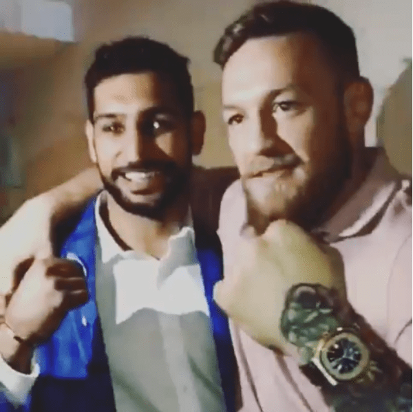 Amir Khan and Conor McGregor were at an MMA event in Belfast
