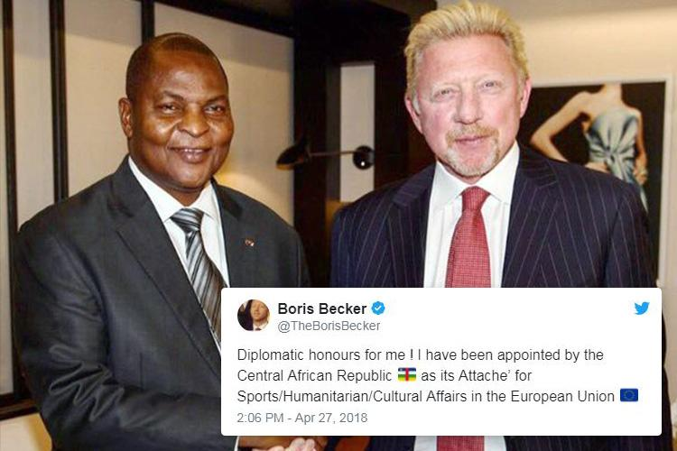 Image result for boris becker central african republic
