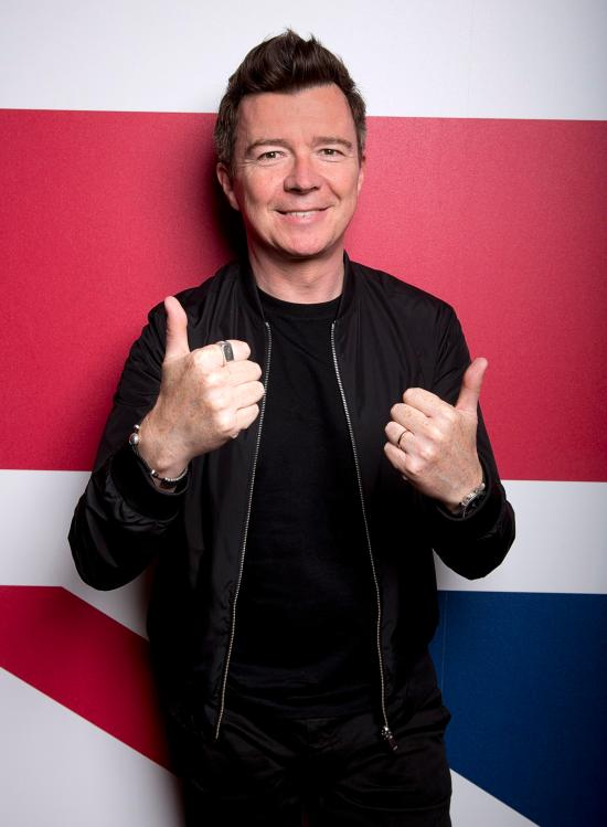 Rick Astley is an iconic 80s pop singer
