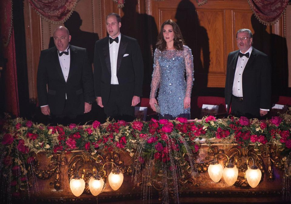 The Duke and Duchess of Cornwall represented the Royal Family at the 2017 Royal Variety Performance