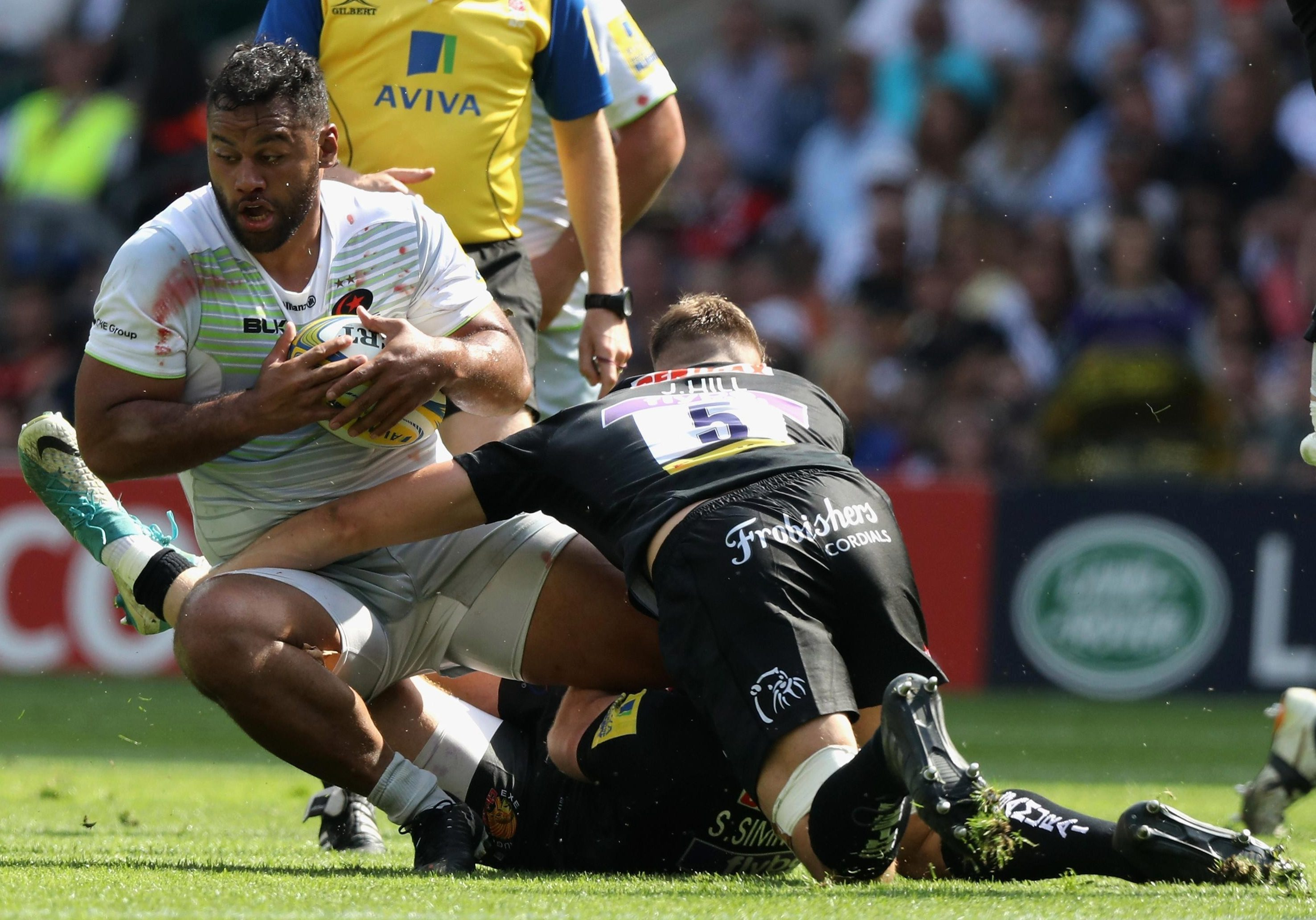 Rugby ace Vunipola hurt himself playing Aussie Rules