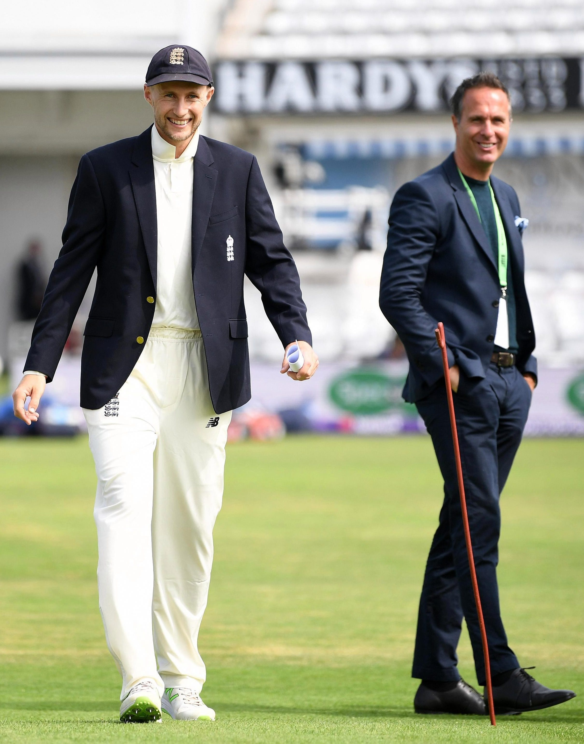 Michael Vaughan with England captain Joe Root