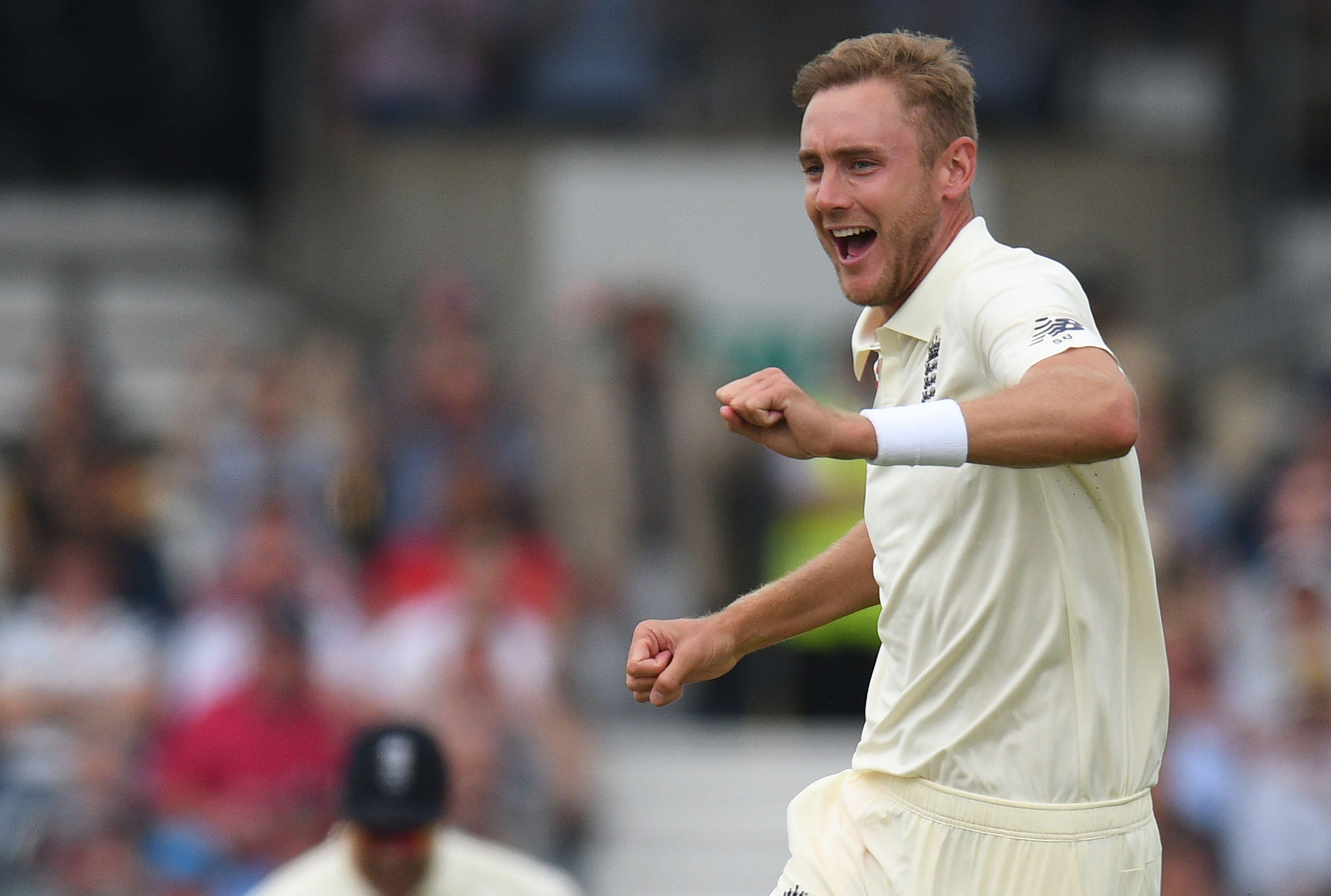 Stuart Broad helped rout Pakistan for 174 all out on day one of the Second Test