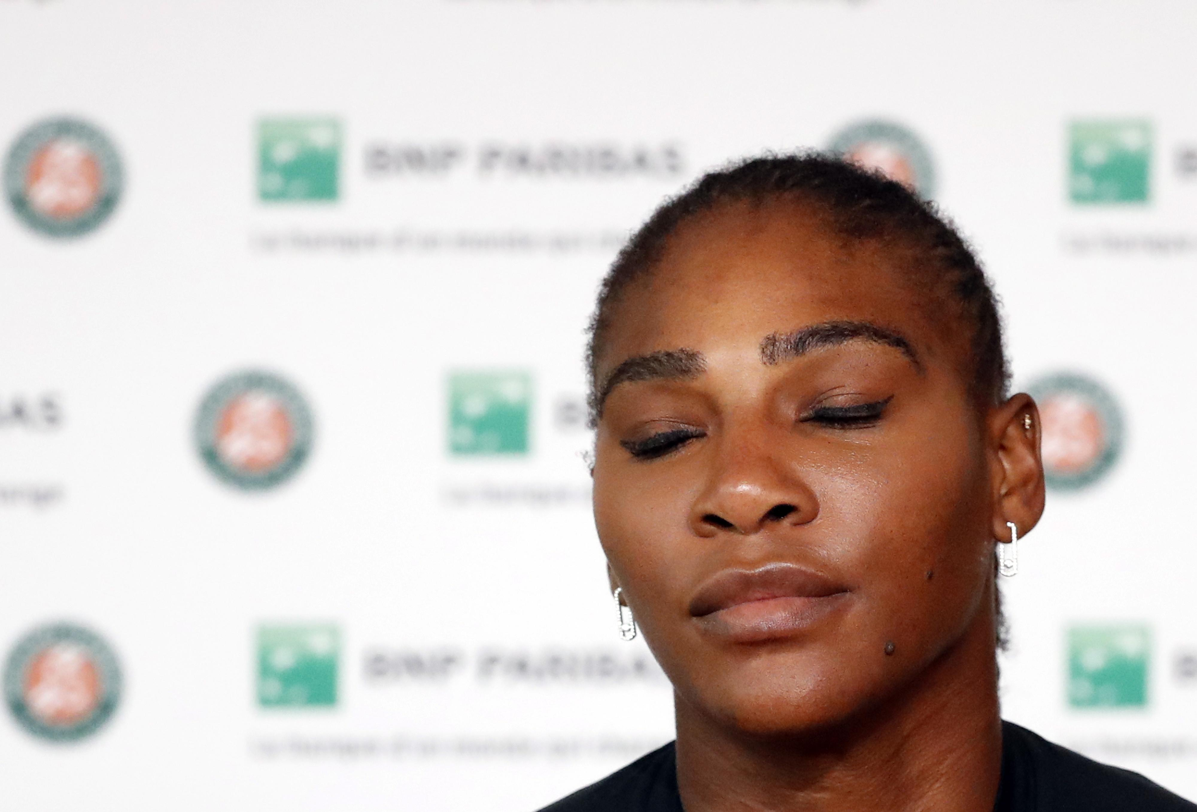 Serena Williams expressed her disappointment at missing out on the clash