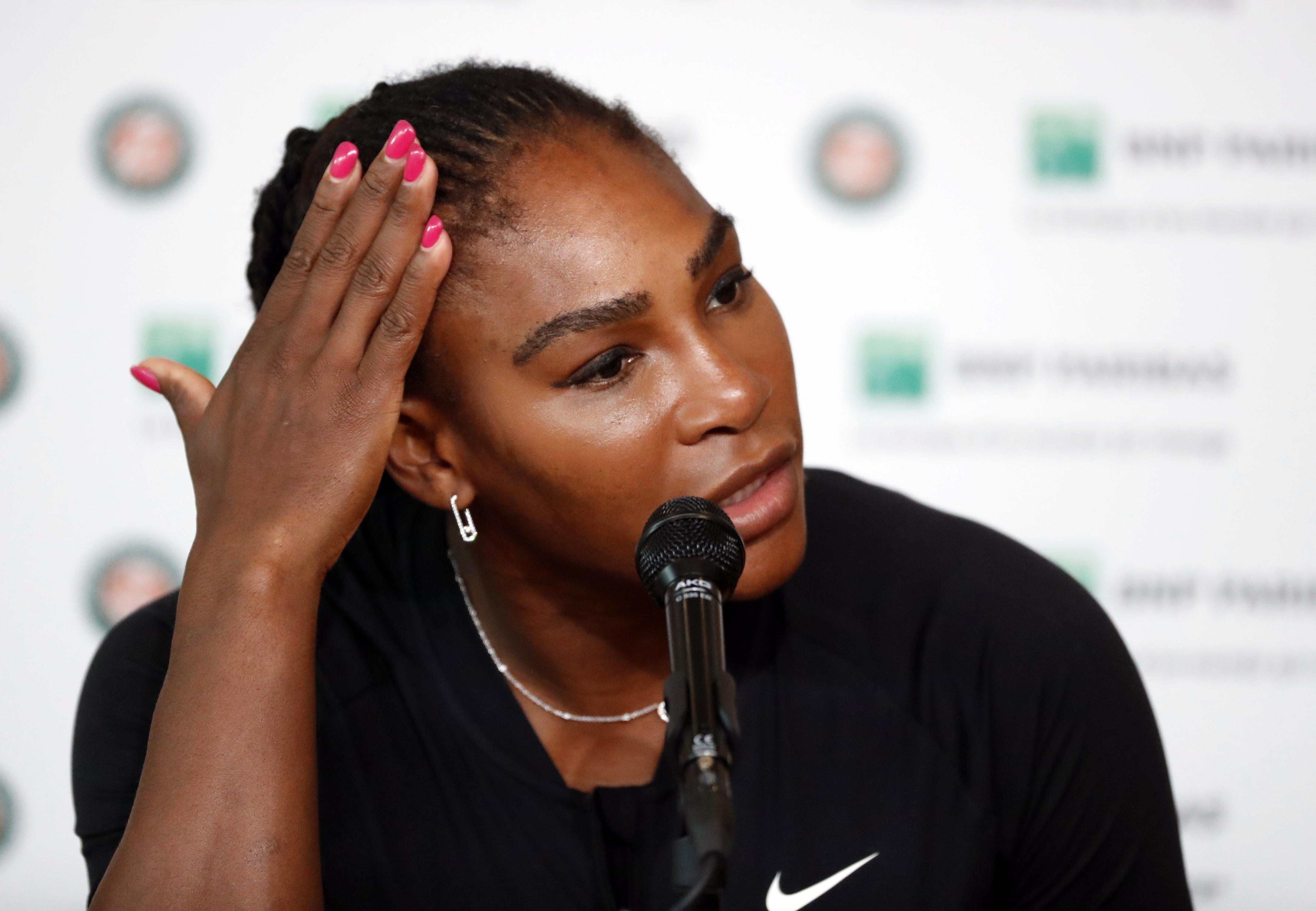 Serena Williams revealed the injury meant she could hardly serve the ball