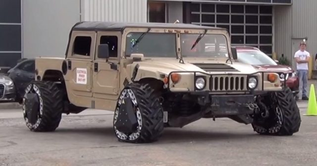 Impressive technology can transform the shape of wheels for military vehicles