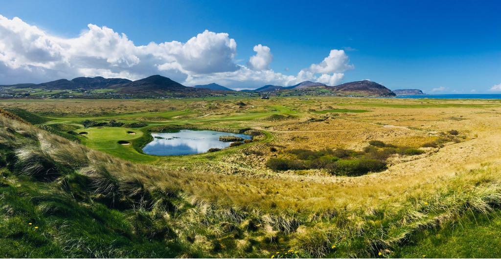 Ballyliffin's signature seventh hole rivals the best in the UK