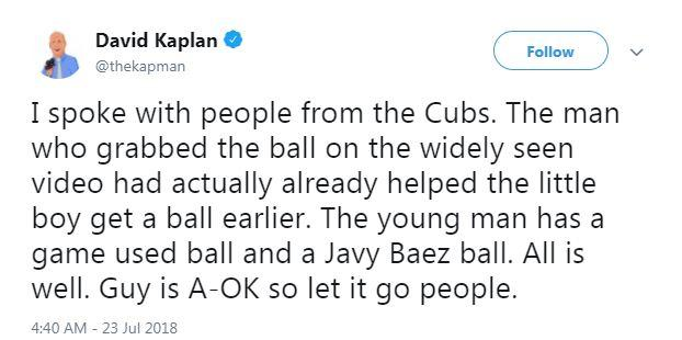 Broadcaster David Kaplan decided to clarify the situation