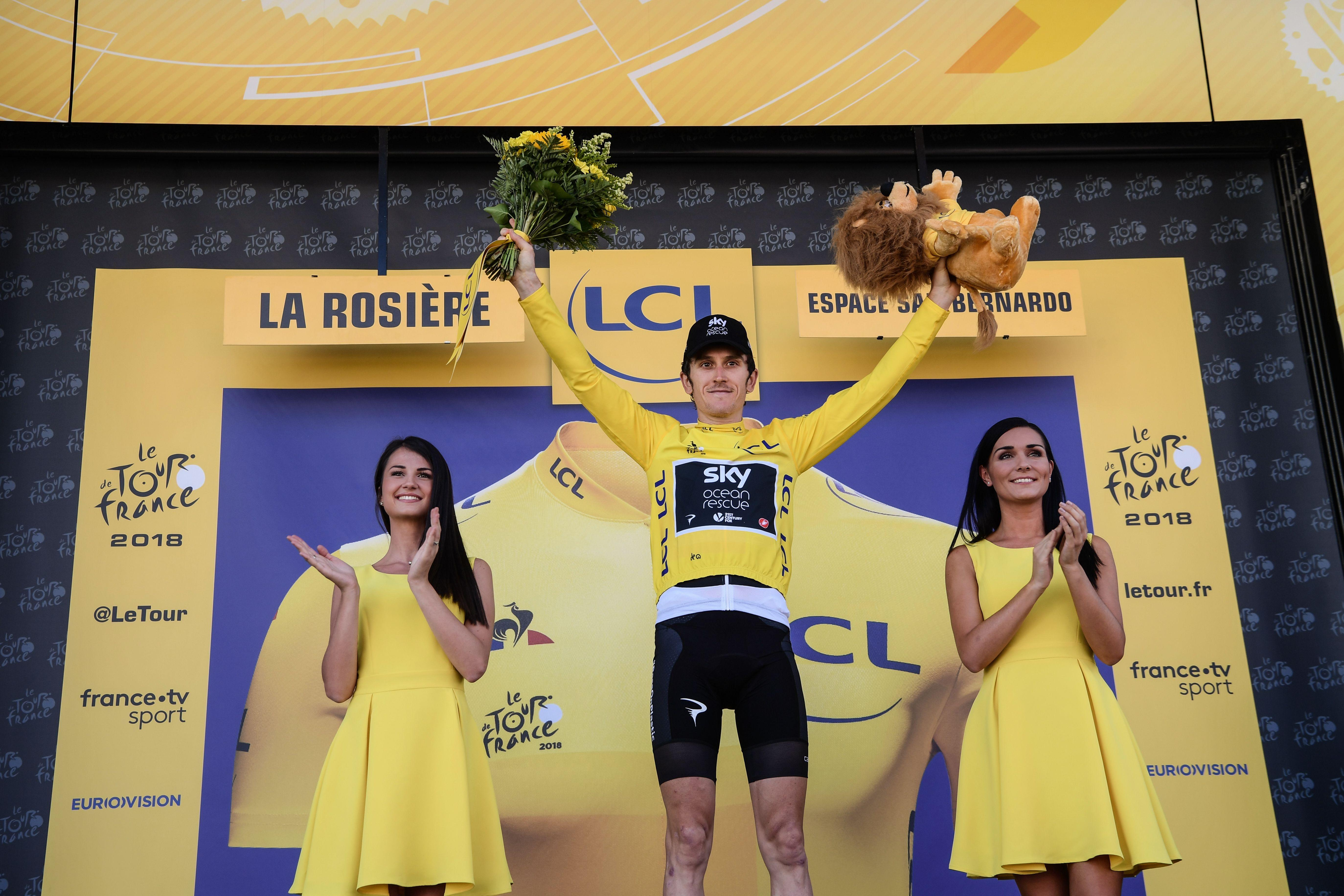Geraint Thomas won his second stage in a row as he consolidated his lead in the Yellow Jersey
