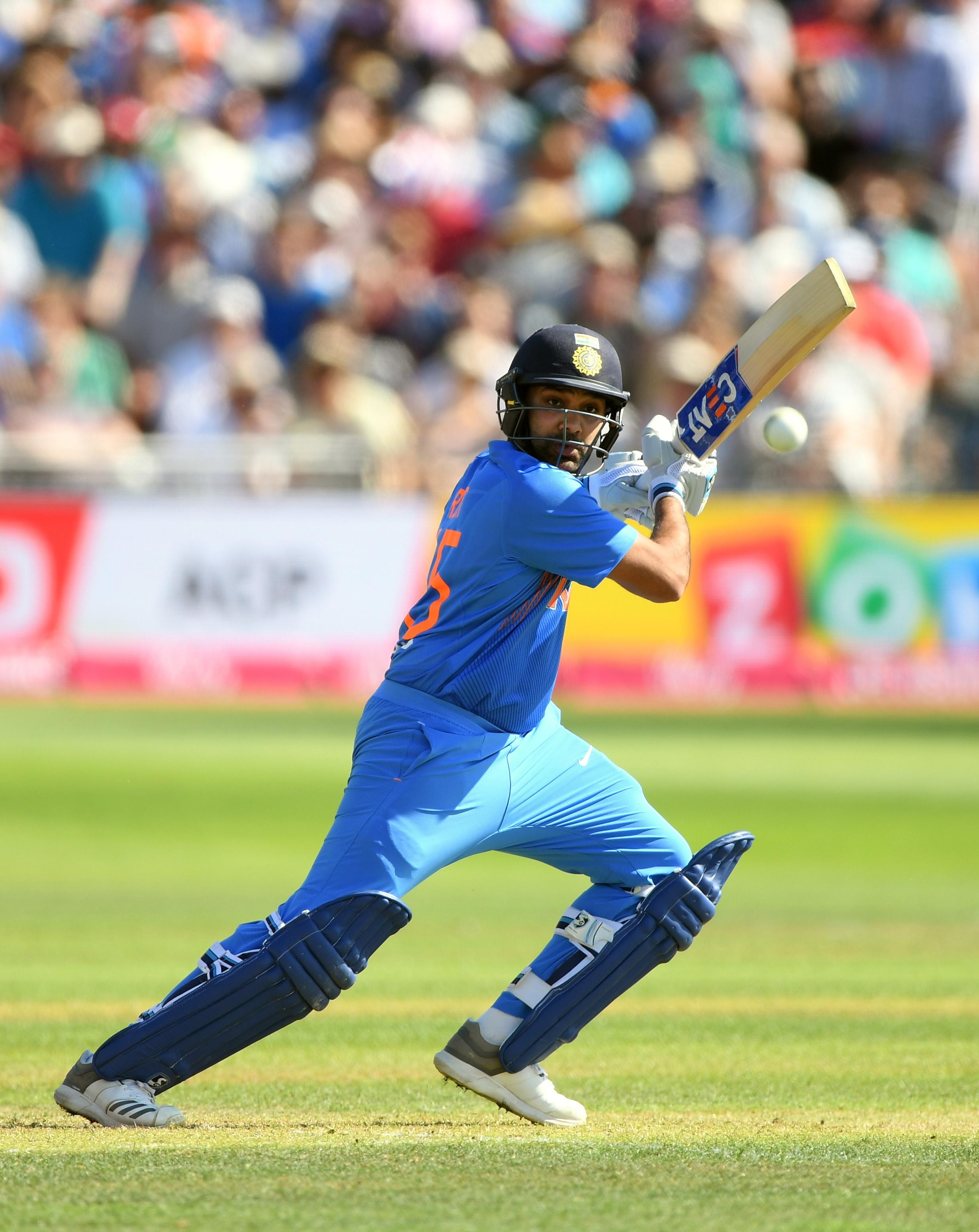Rohit Sharma hit his third T20 century to lead India to victory in Bristol