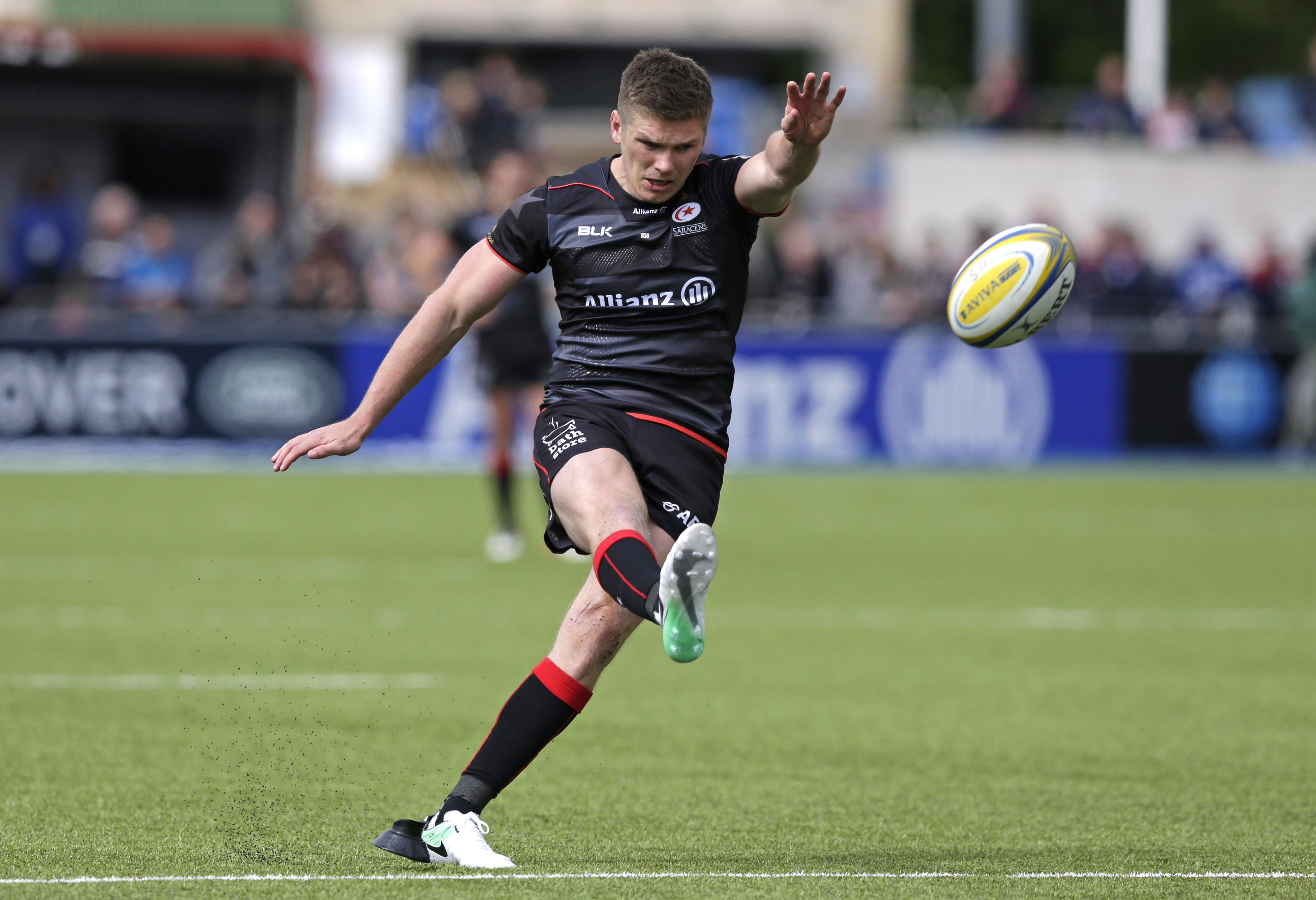 Owen Farrell's champions Saracens will travel to Newcastle Falcons