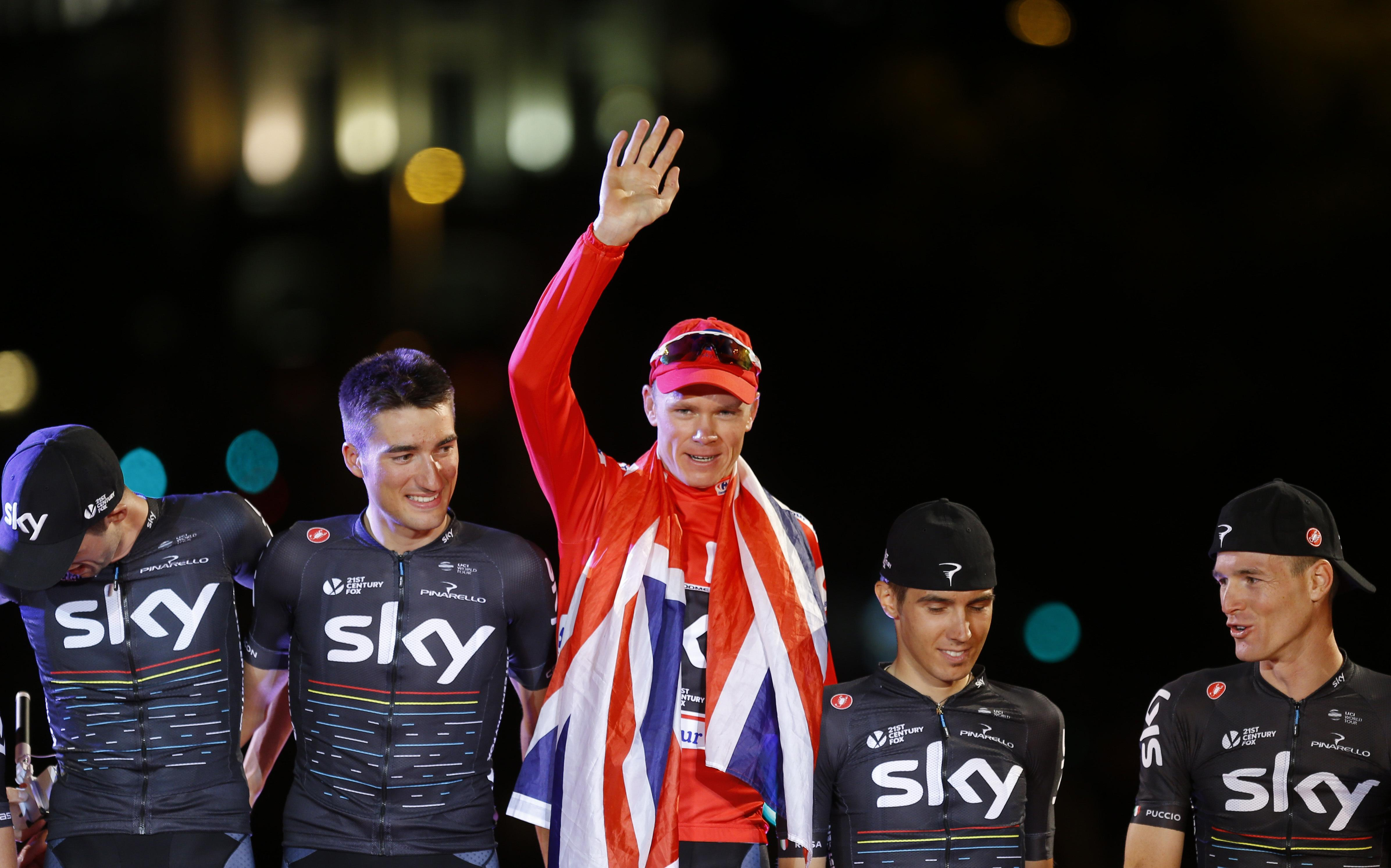 The Team Sky leader celebrated winning the Vuelta a Espana for the first time last September