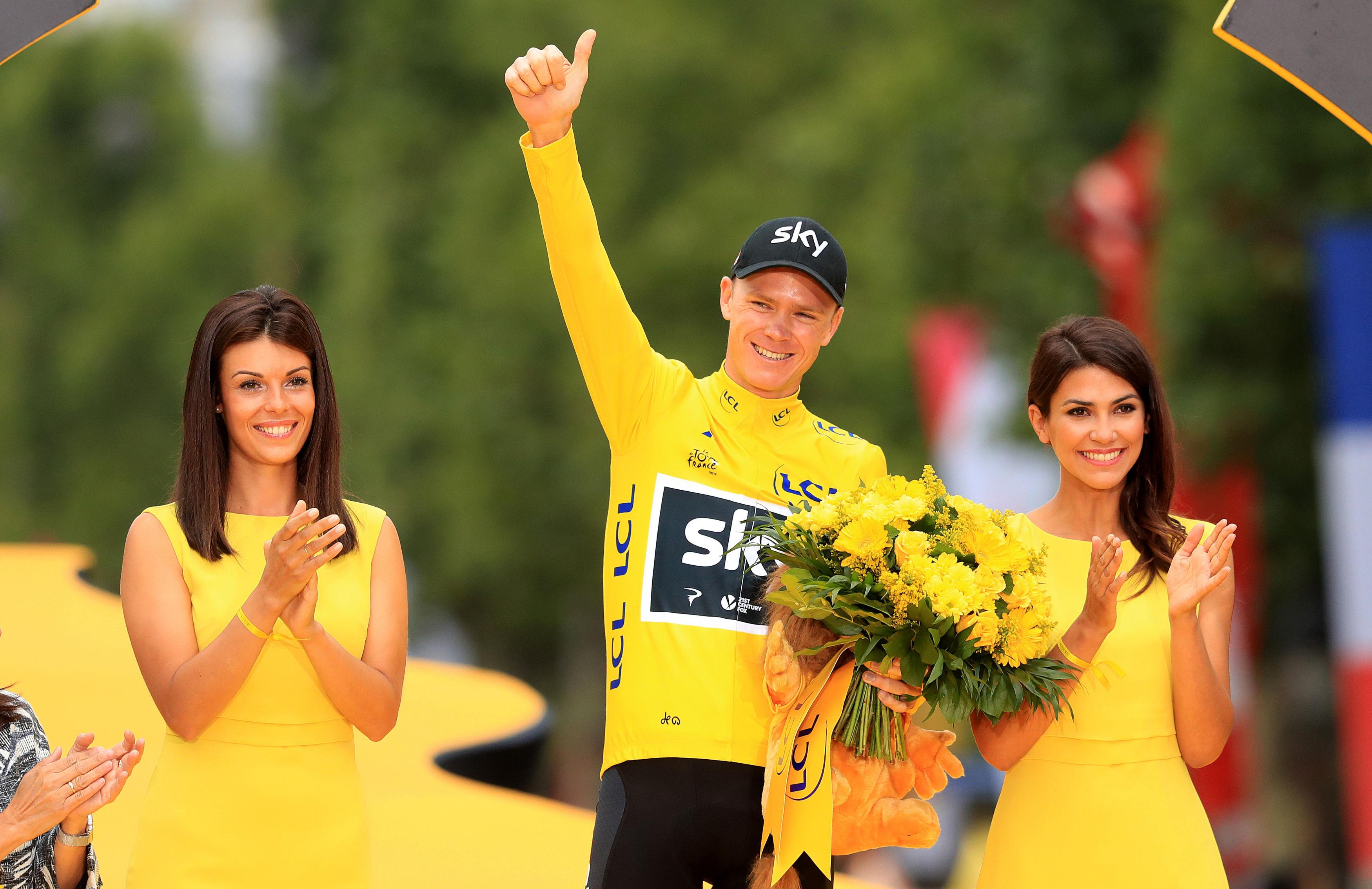 Froome won the Tour de France last year for the fourth time