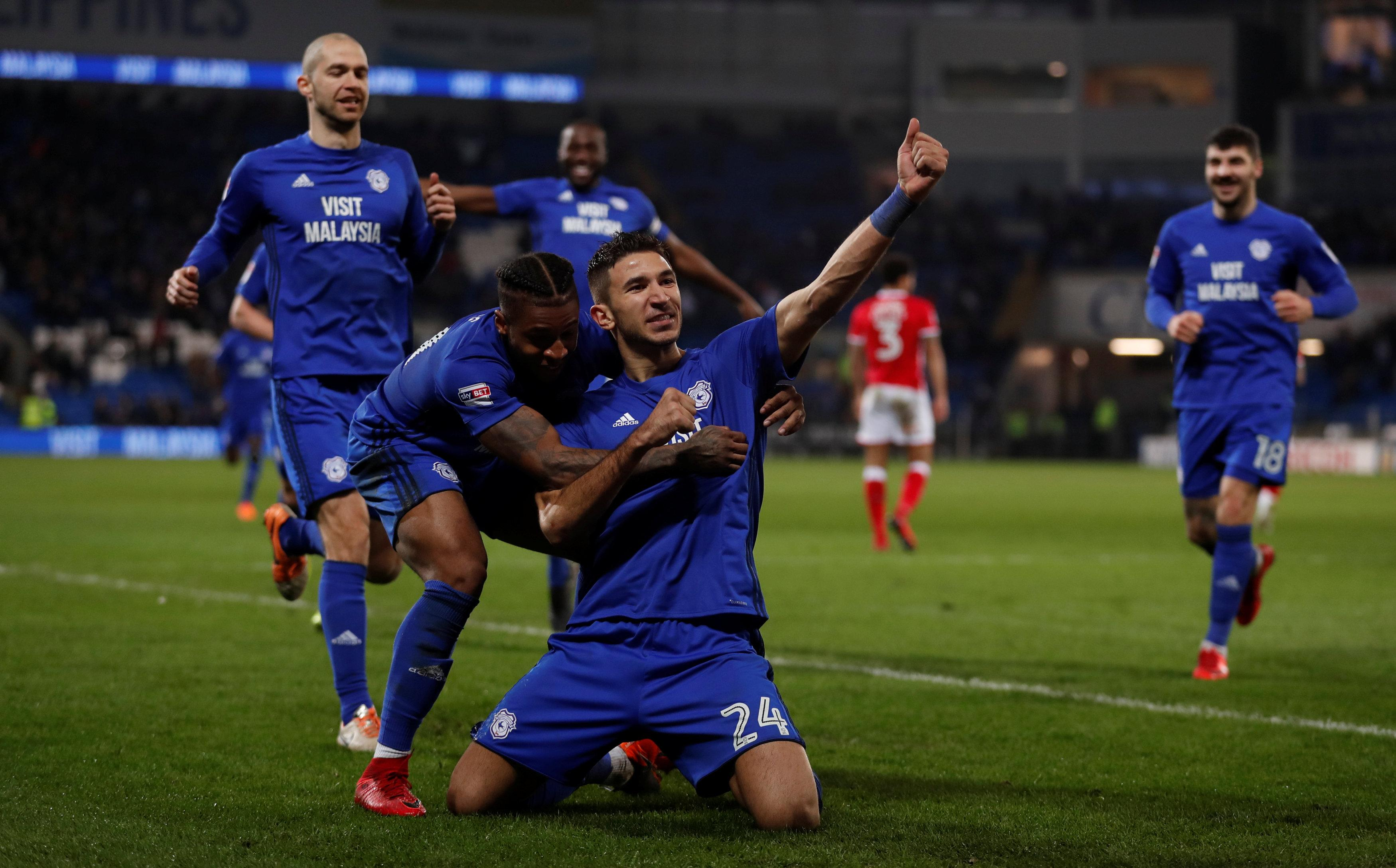 Marko Grujic played 12 games for Cardiff in the Championship and scored one goal