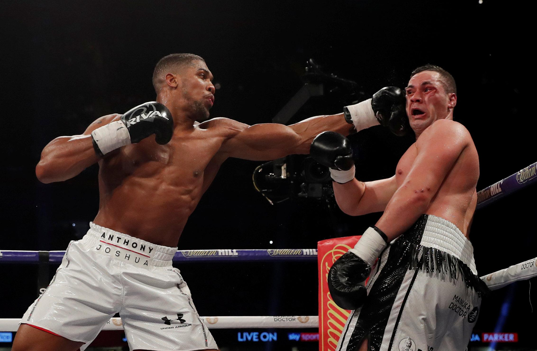 Joseph Parker (right) lost to Anthony Joshua back in March