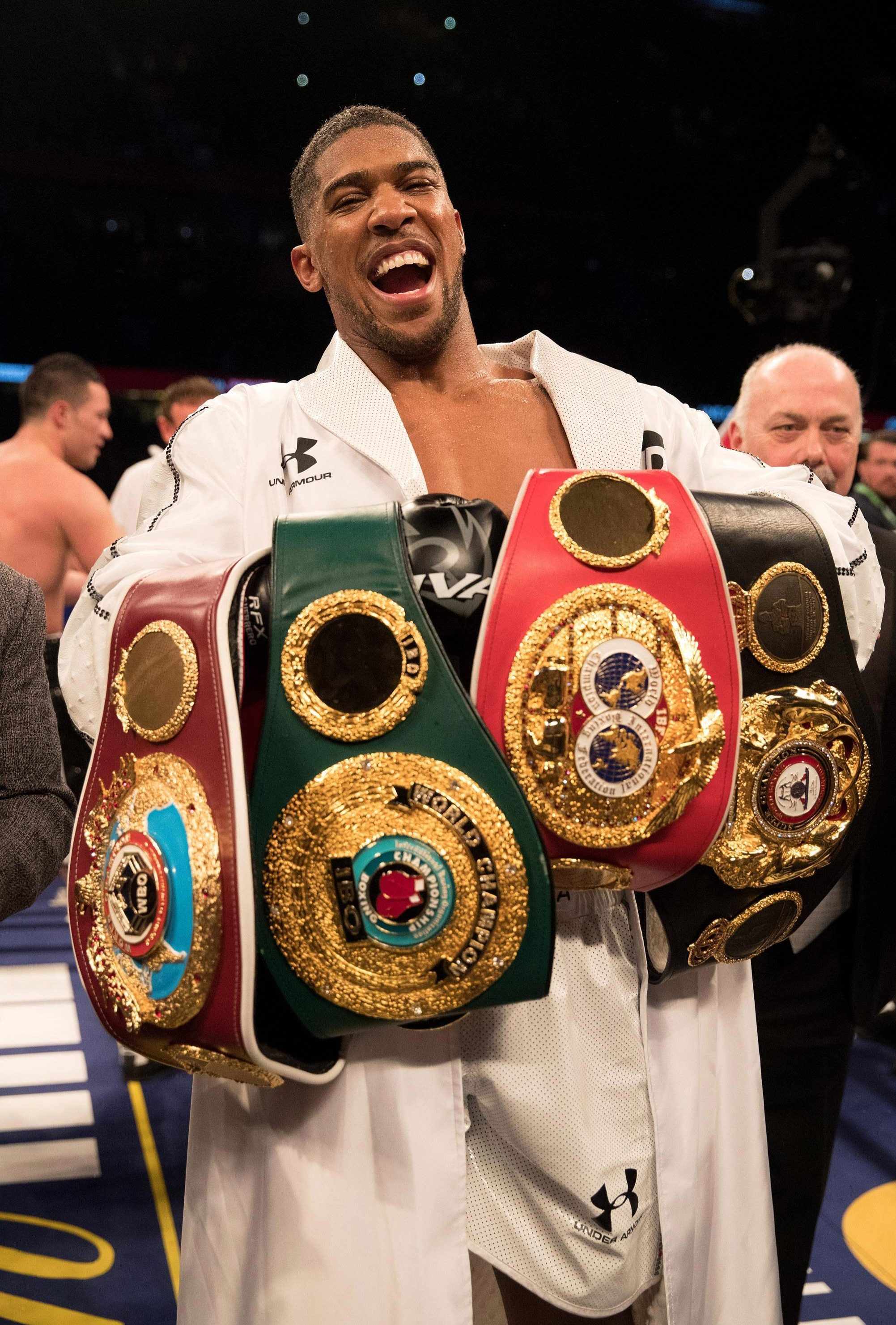 Anthony Joshua is one belt away from unifying the heavyweight division, needing to beat Deontay Wilder in April to achieve the feat