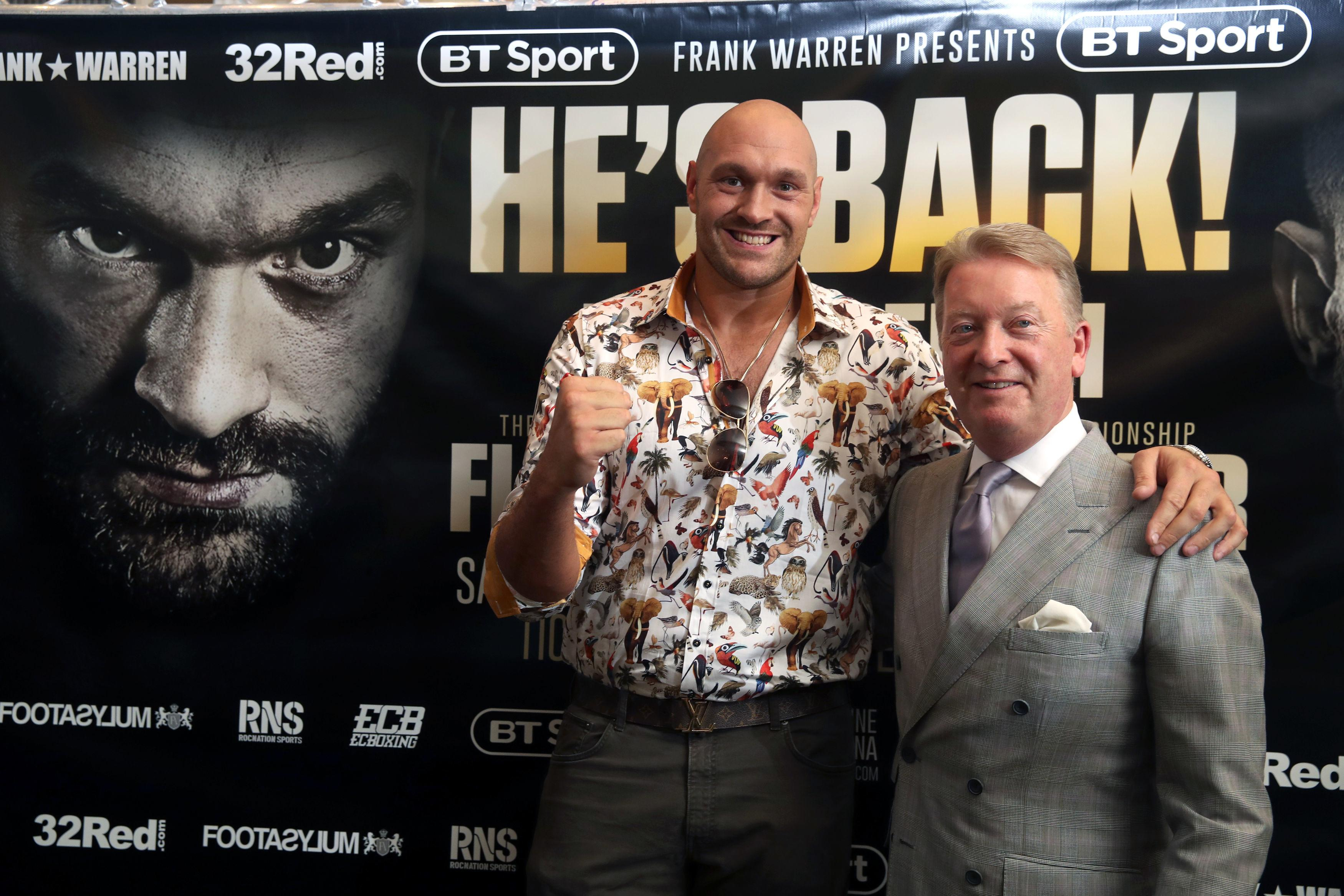 Frank Warren has sensationally revealed he wants Tyson Fury to fight Deontay Wilder before the end of the year