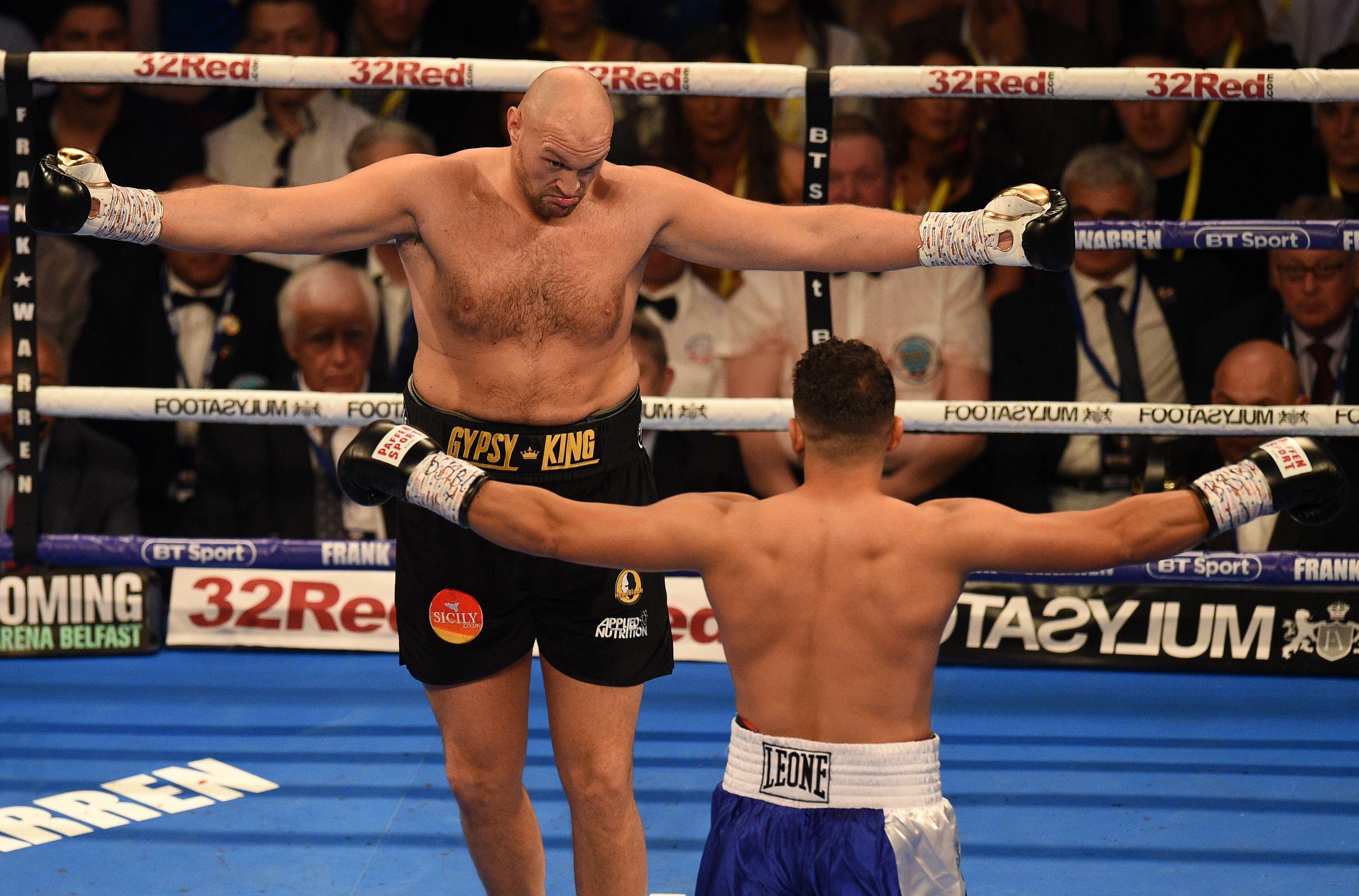Tyson Fury was heavily criticised for his showboating against Sefer Seferi in June