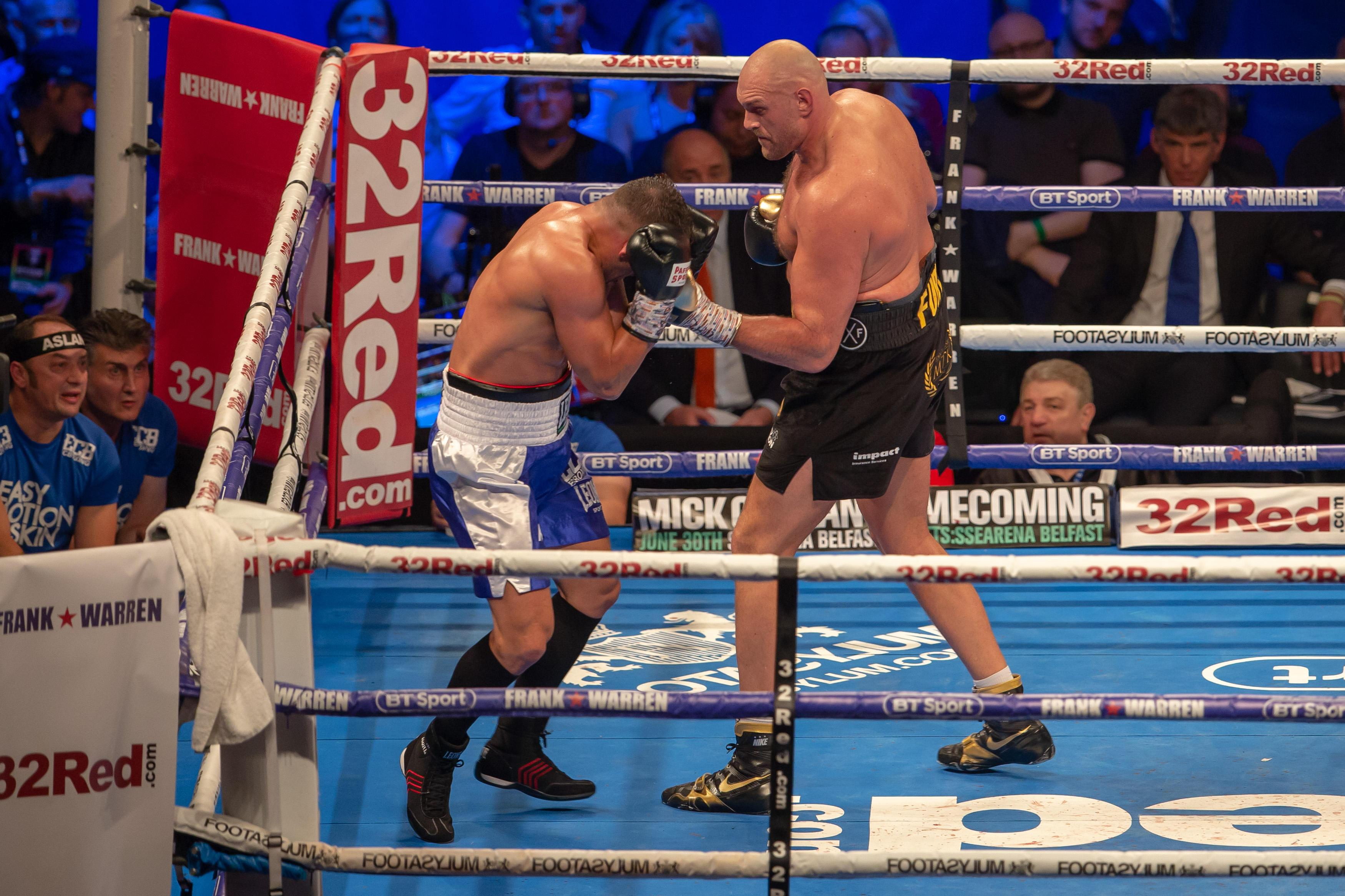 Sefer Seferi was no match whatsoever for Tyson Fury in his comeback fight after almost three years out of the sport
