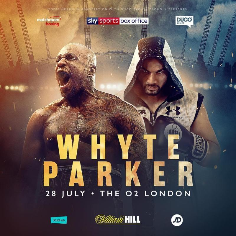 Whyte and Parker will get it on at The O2 in London next week