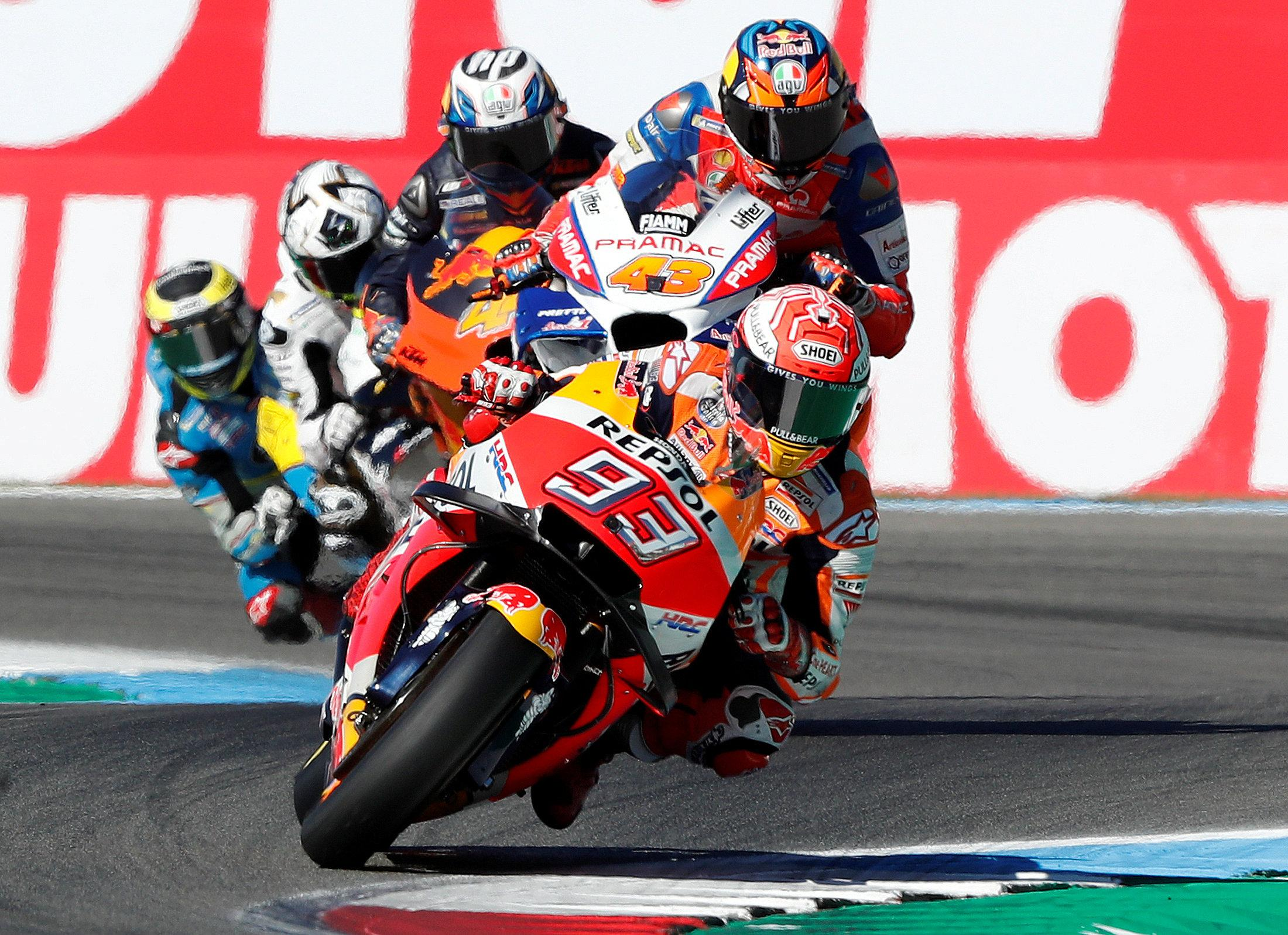 Marc Marquez dominated in Assen to record victory at the Dutch GP