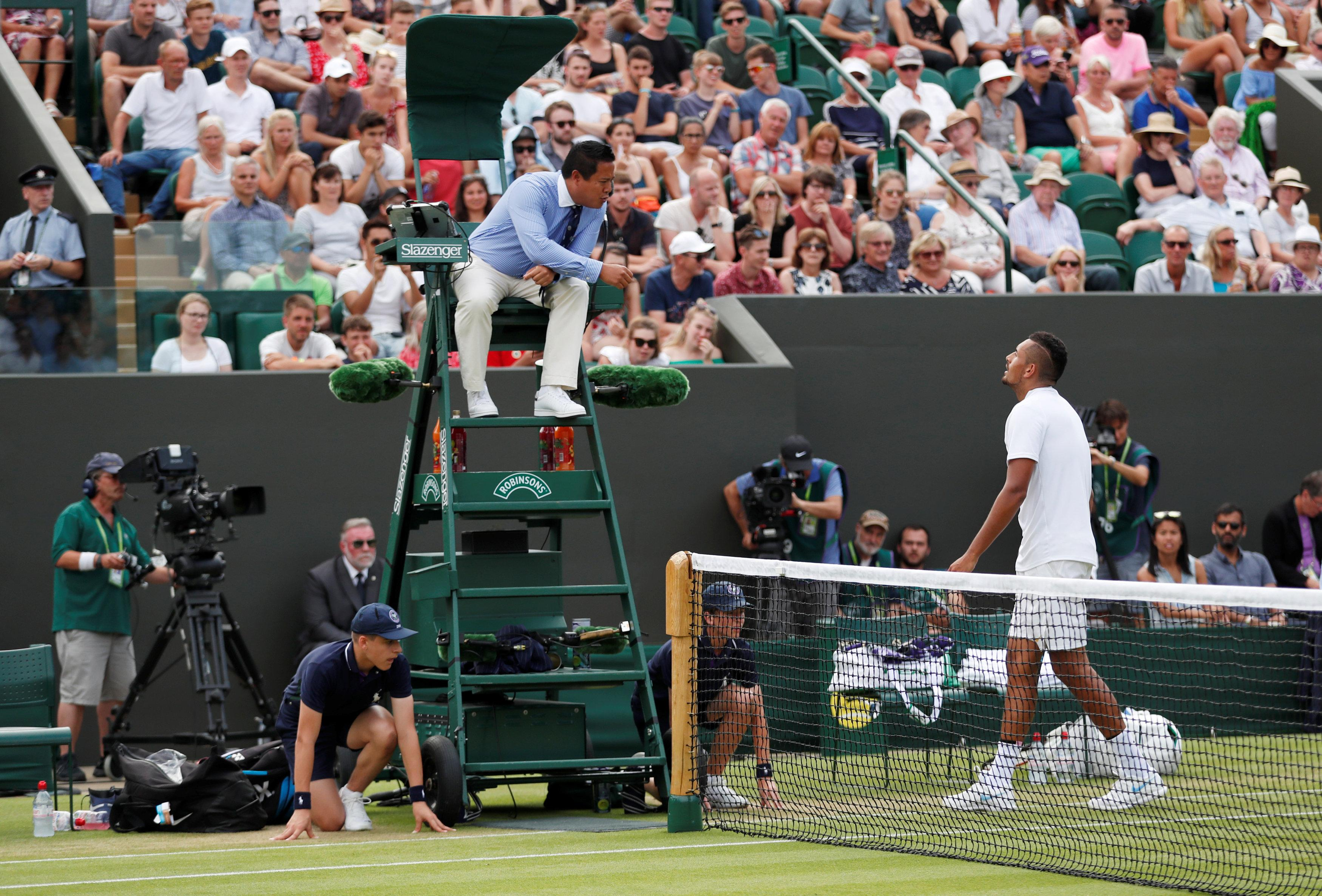 Kyrgios, 23, has often been described as the bad boy of tennis following a number of controversial incidents and run-ins with umpires