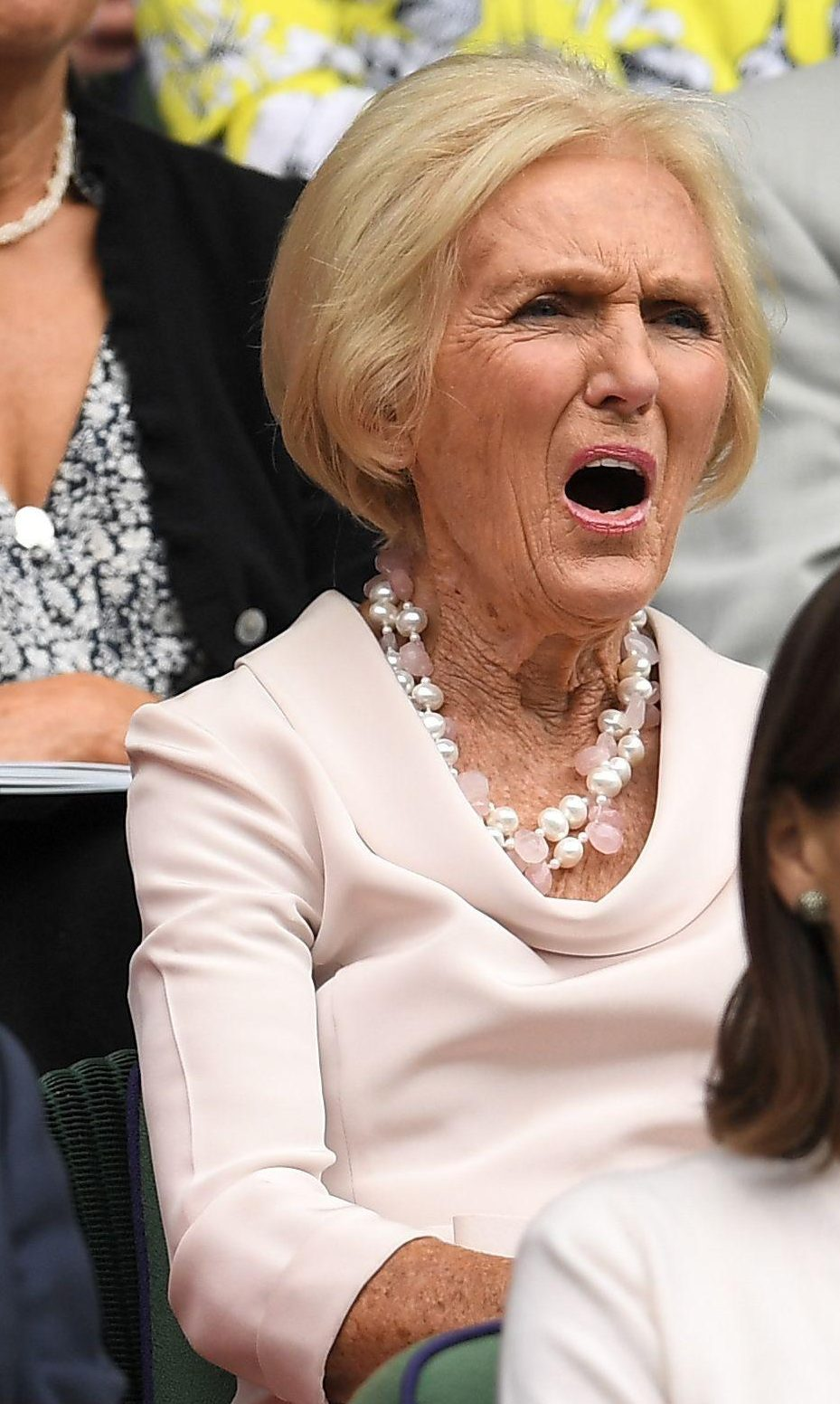 Mary Berry watched the match from the Royal Box