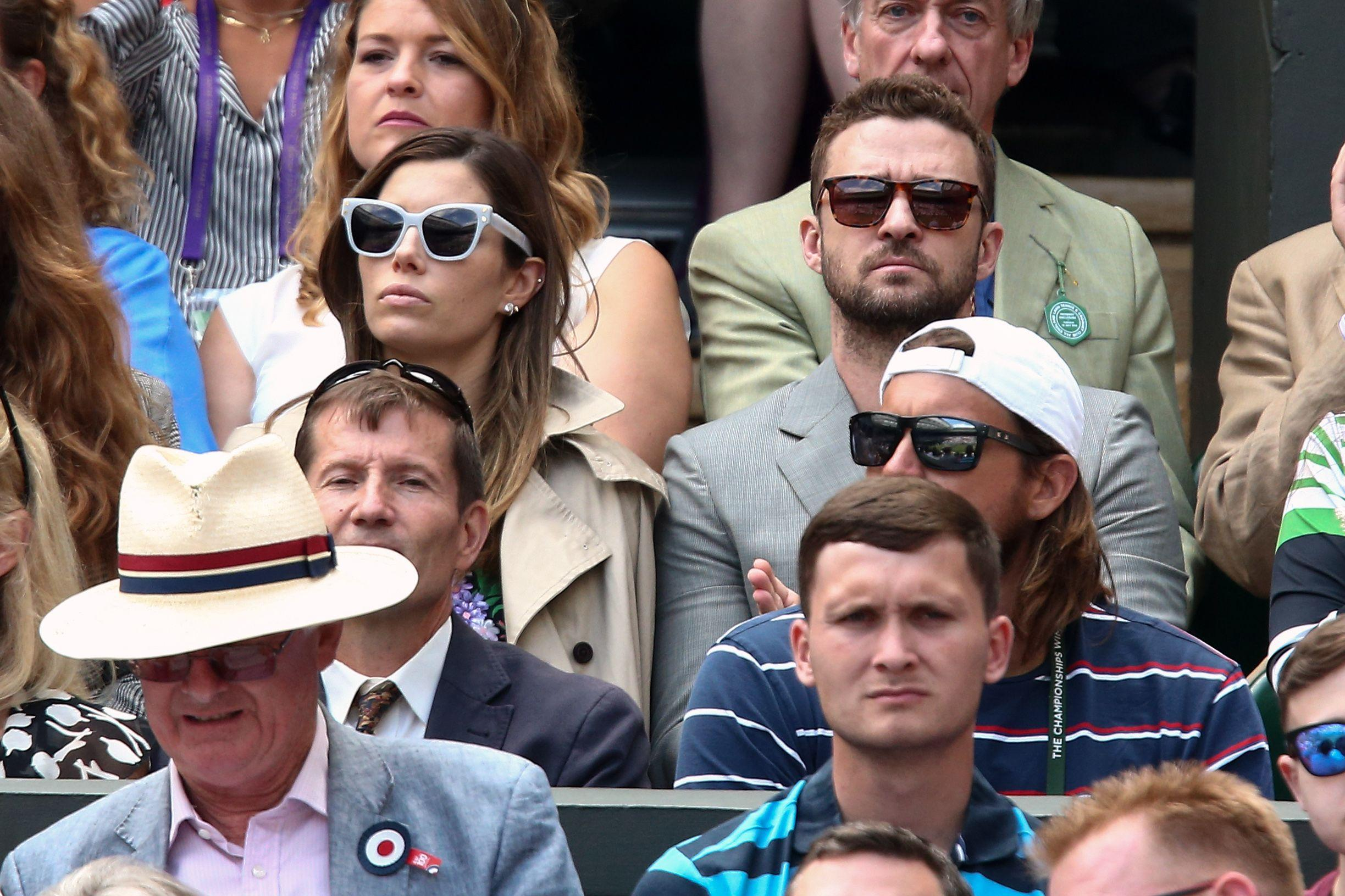 Justin Timberlake and his wife Jessica Biel also enjoyed the match