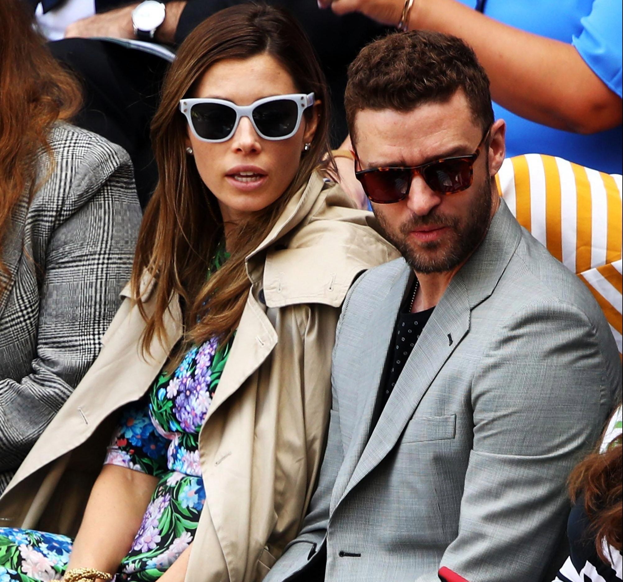 Justin Timberlake got in on the action with wife Jessica Biel