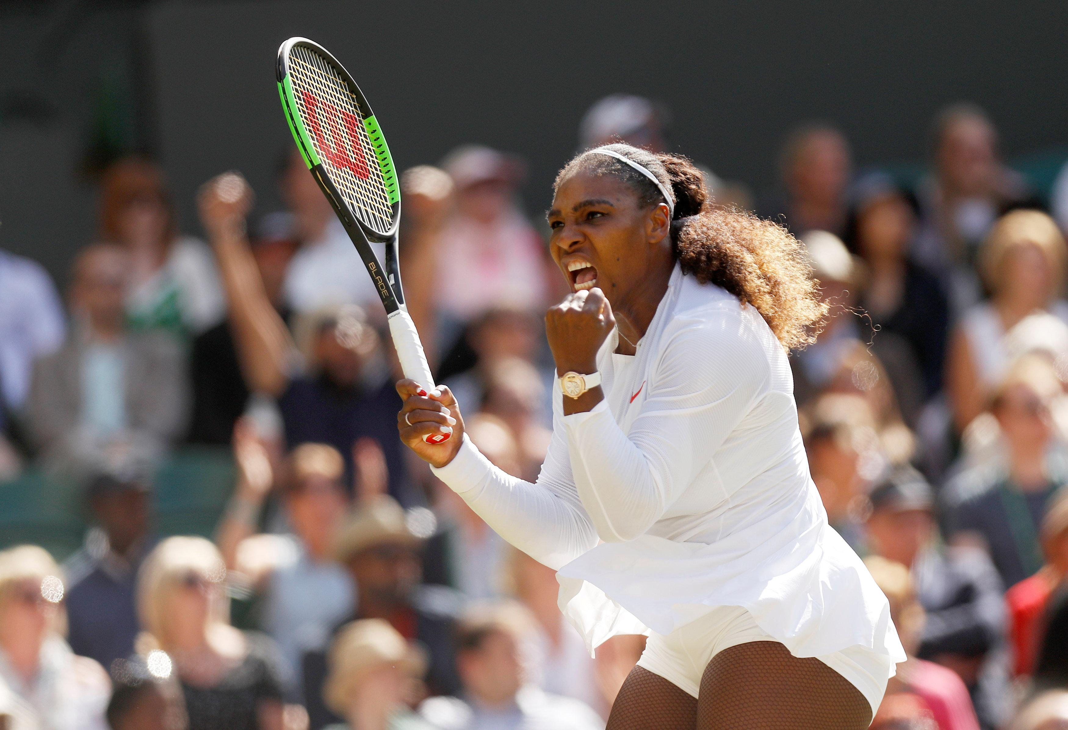 Serena Williams was made to fight as she came back from a set down to beat Camila Giorgi to reach the semi-finals