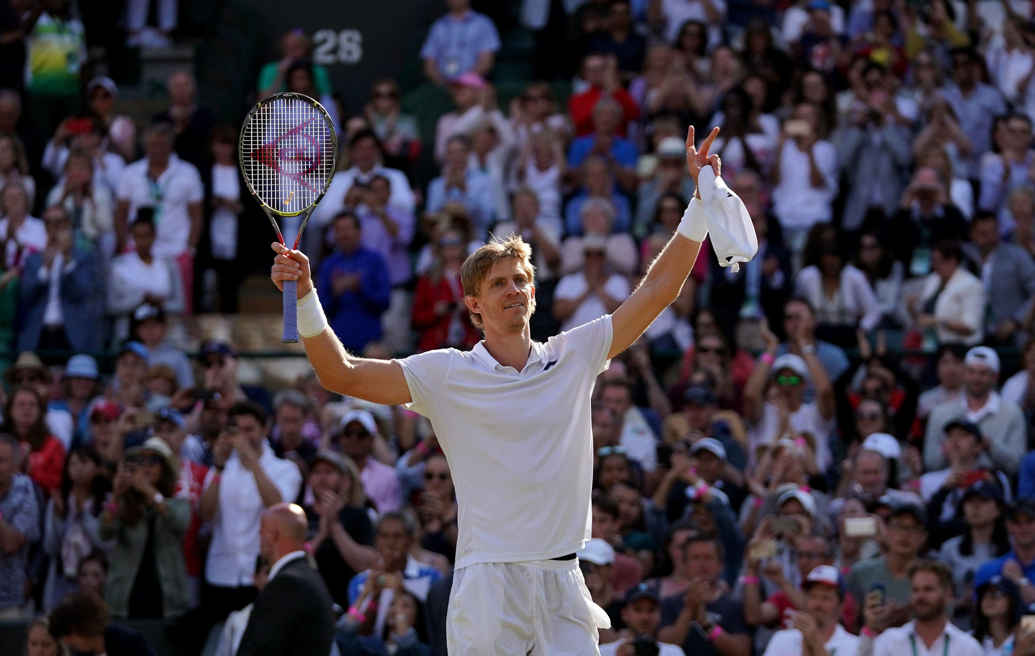 Kevin Anderson battled back from two sets down before beating Roger Federer in the quarter-finals