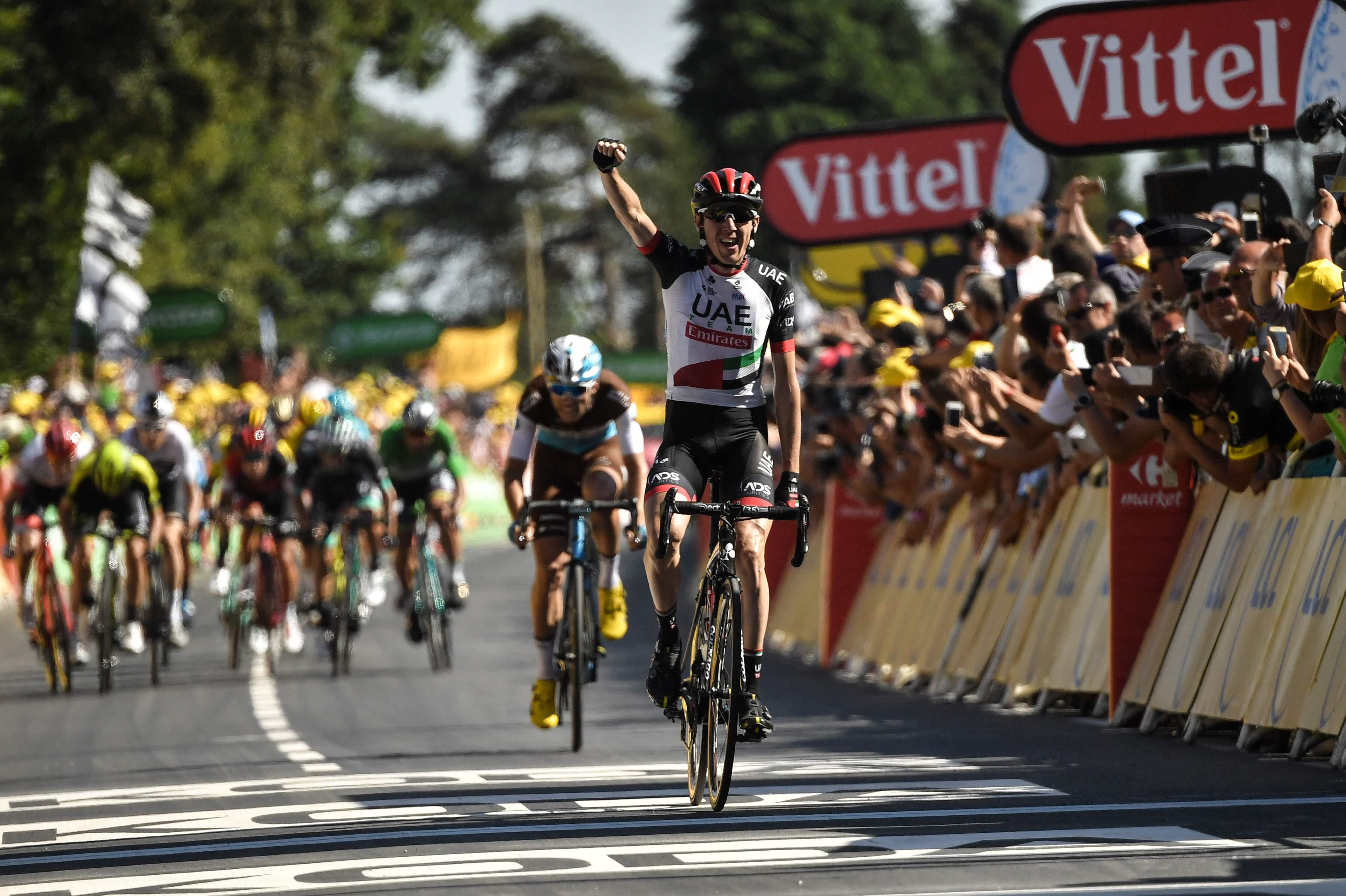 Dan Martin clinched stage victory at Mur-de-Bretagne in Brittany
