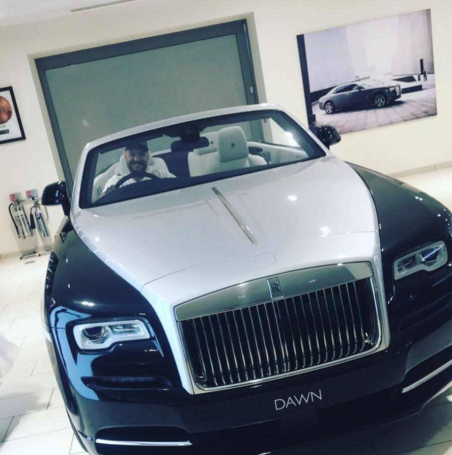 Tyson Fury has treated himself to a new Rolls Royce