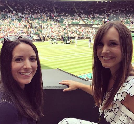 Kelsey has been at Wimbledon supporting her husband