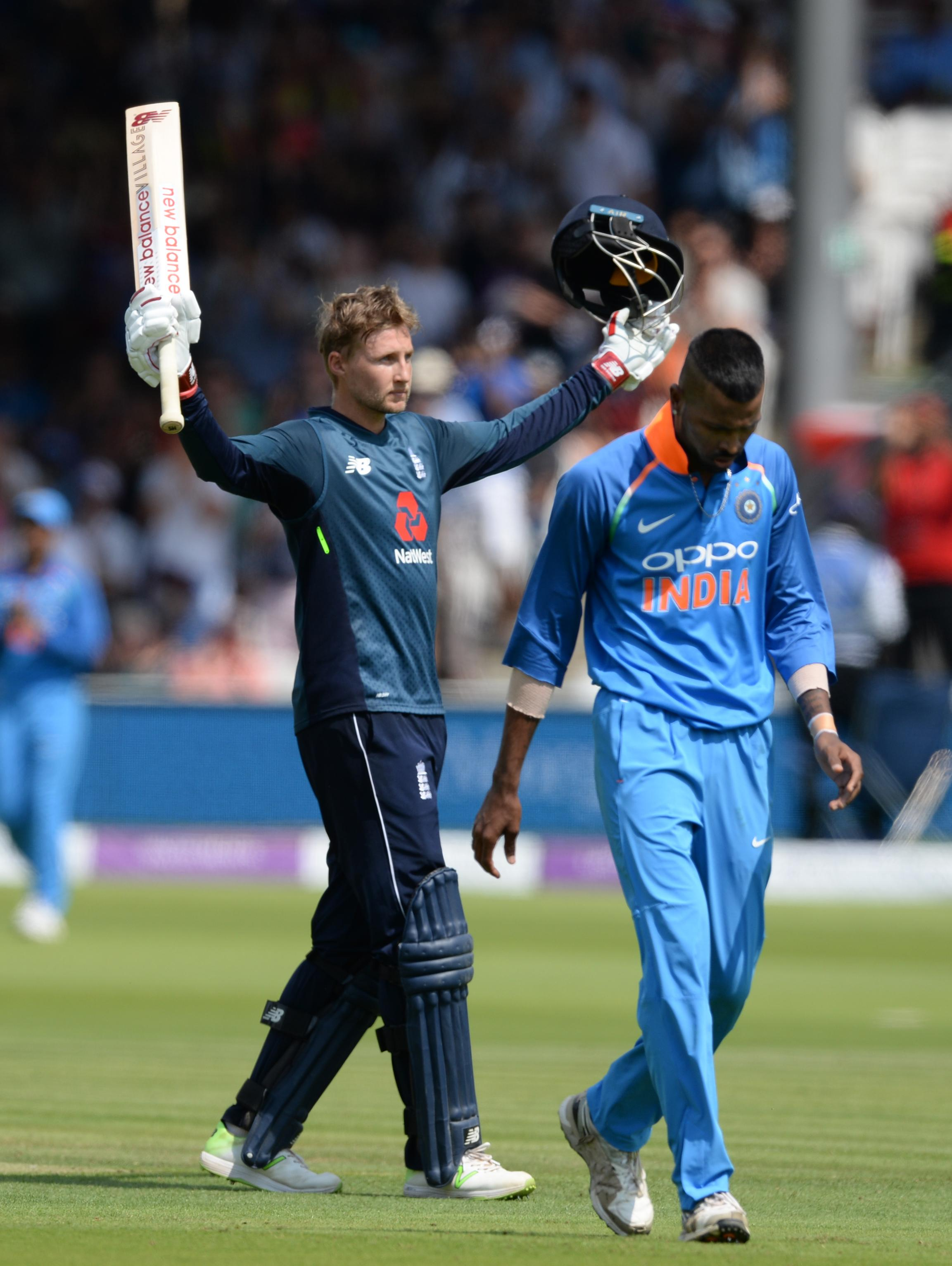 Root's ton helped England set a target of 323