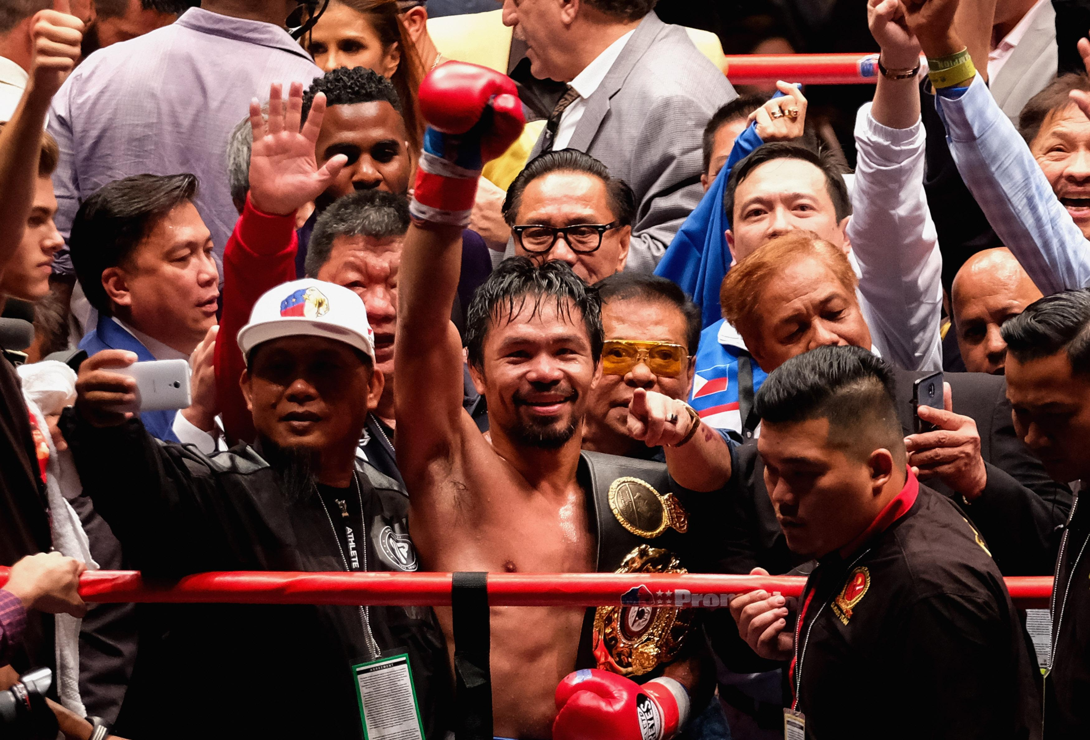 Manny Pacquiao rolled back the years to become an 11-time world champion this morning
