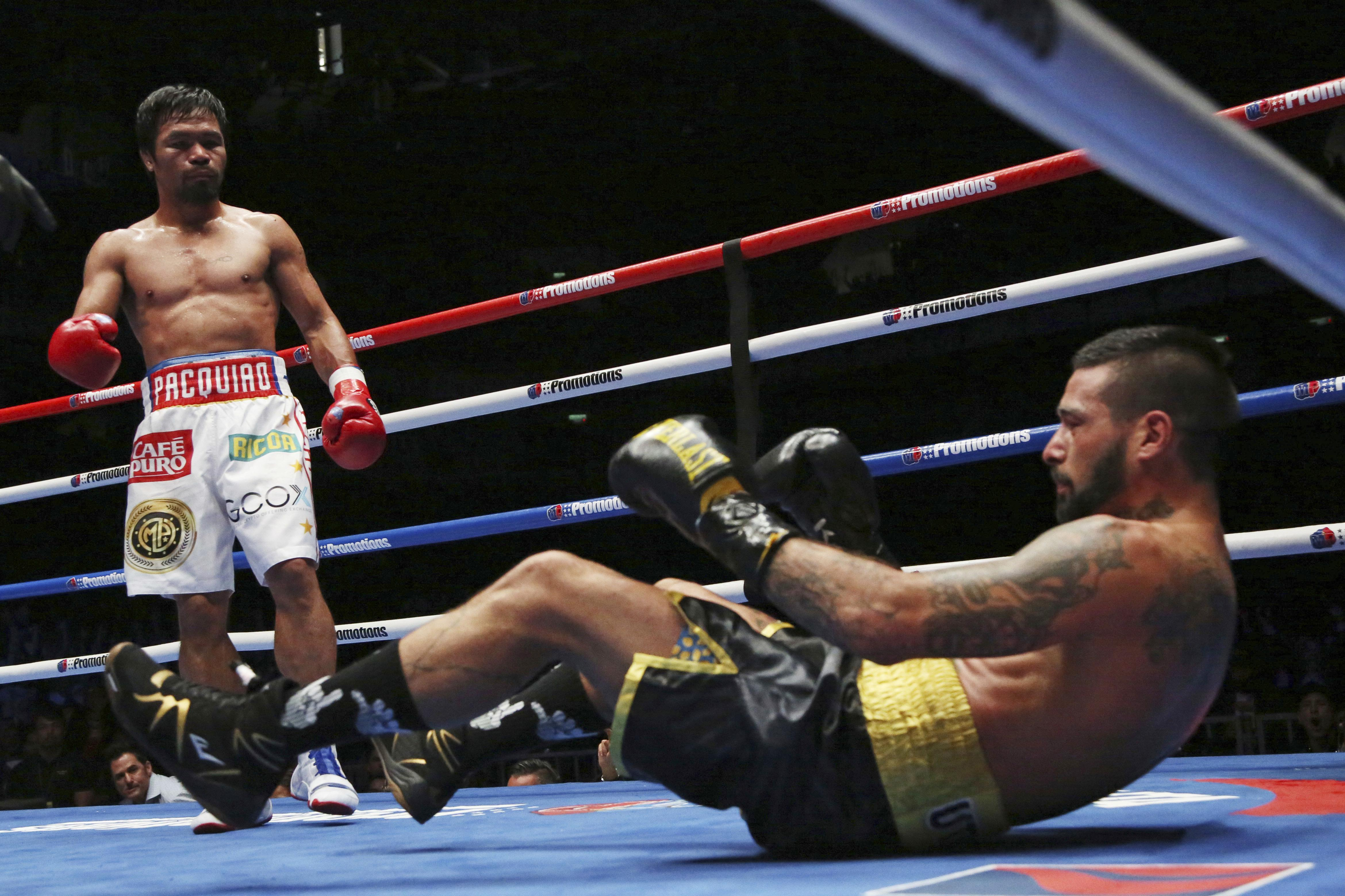 The 39-year-old knocked out Lucas Matthysse to become WBA world welterweight champion