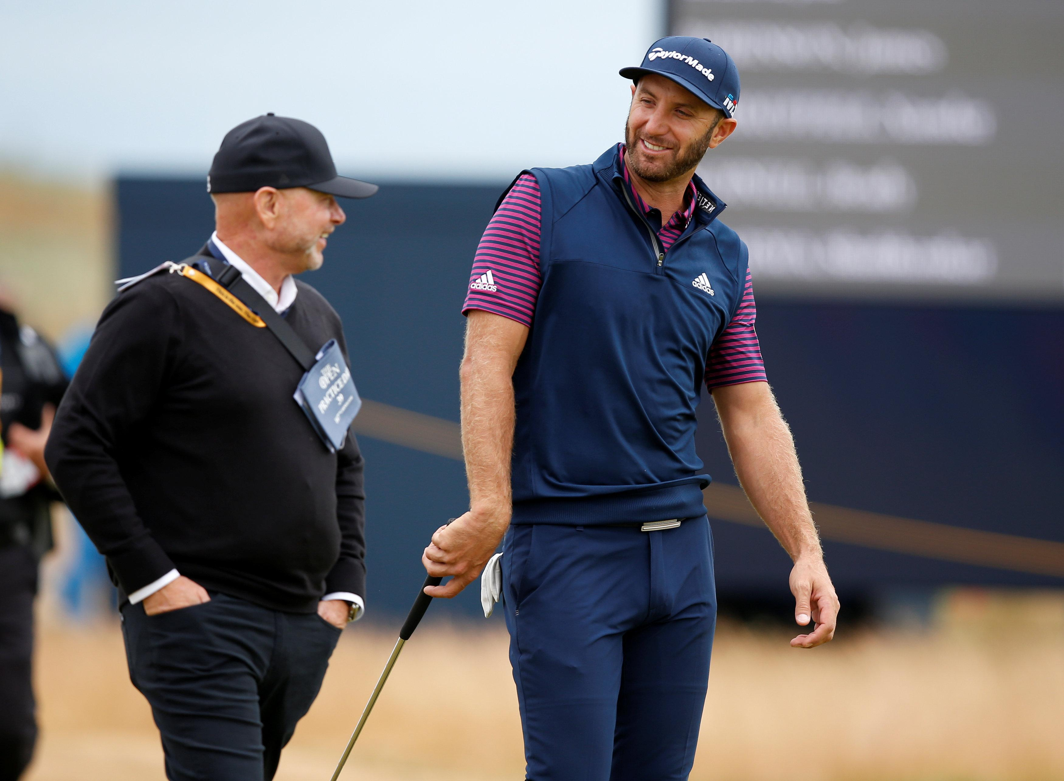 World No 1 Dustin Johnson is playing his first golf since last month's US Open