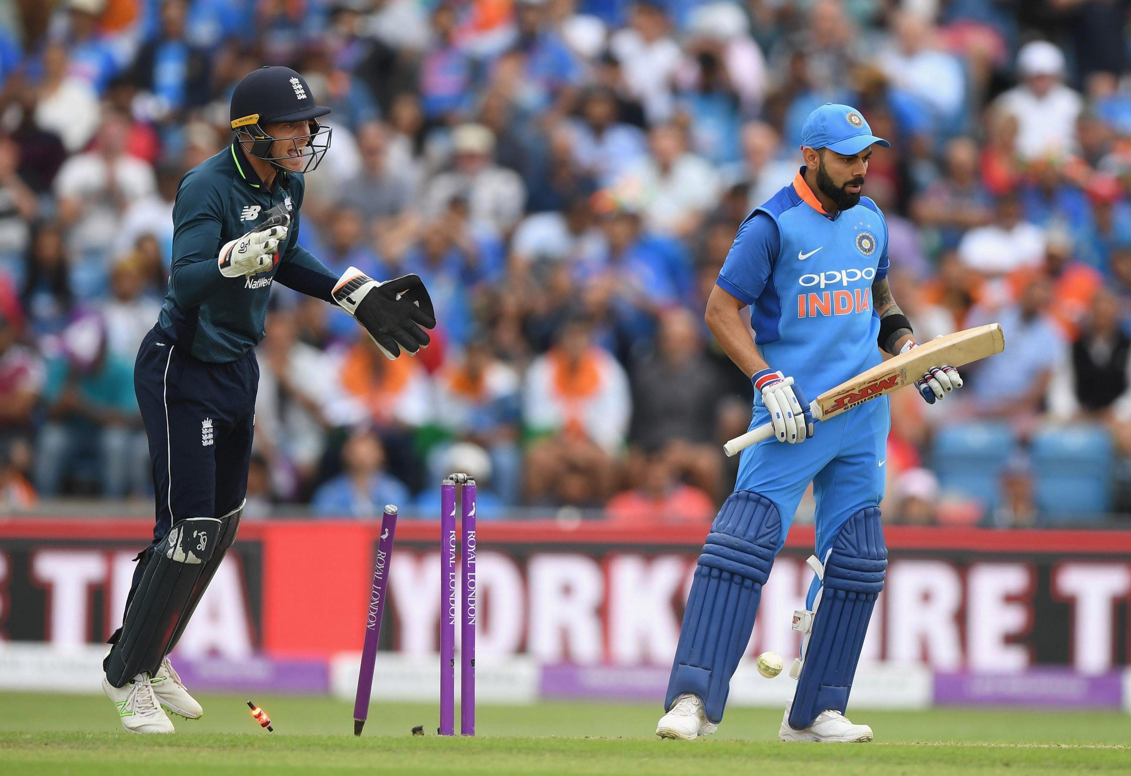 Adil Rashid bowled Virat Kohli with a brilliant leg-spinner