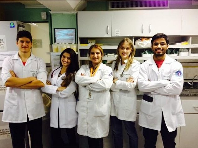 Natalia, second left, is also a qualified doctor
