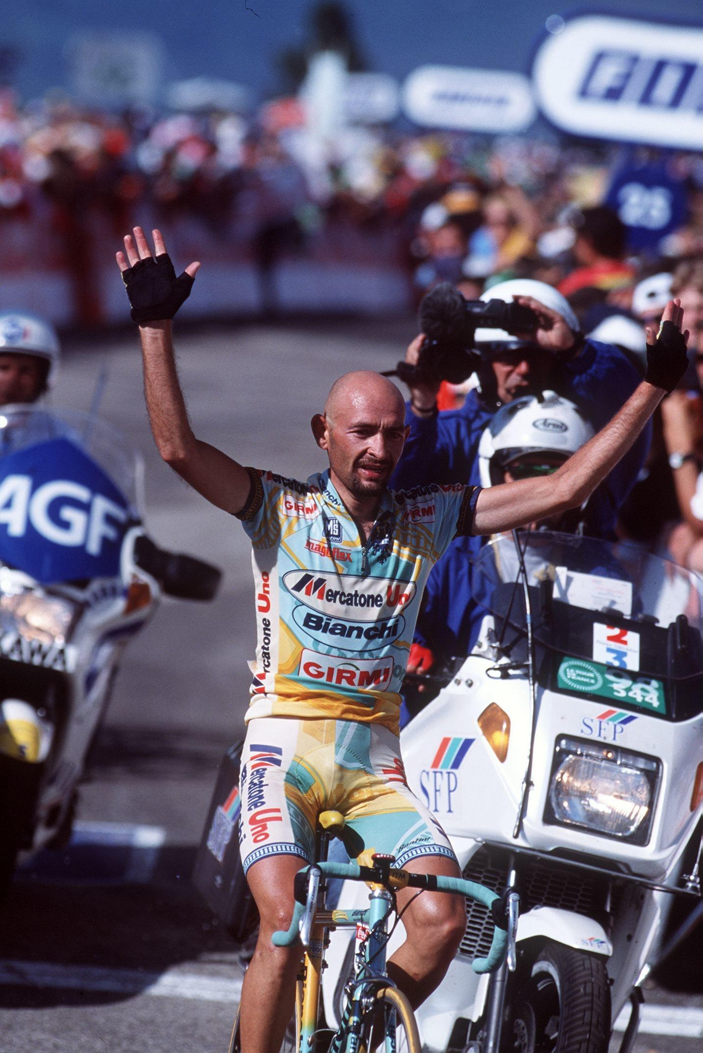 Marco Pantani made the three fastest ascents of Alpe d'Huez, but his achievements are tainted with doping